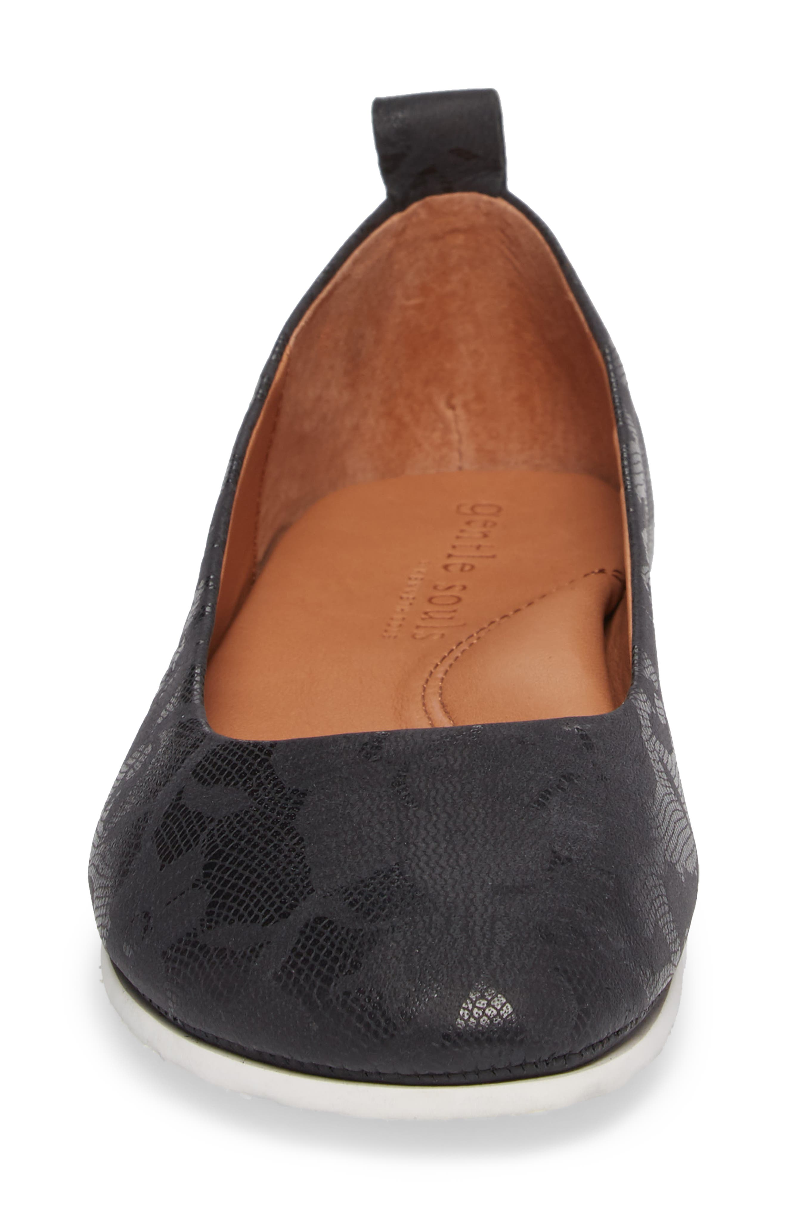 by Kenneth Cole Dana Flat,                             Alternate thumbnail 4, color,                             BLACK/ BLACK LEATHER