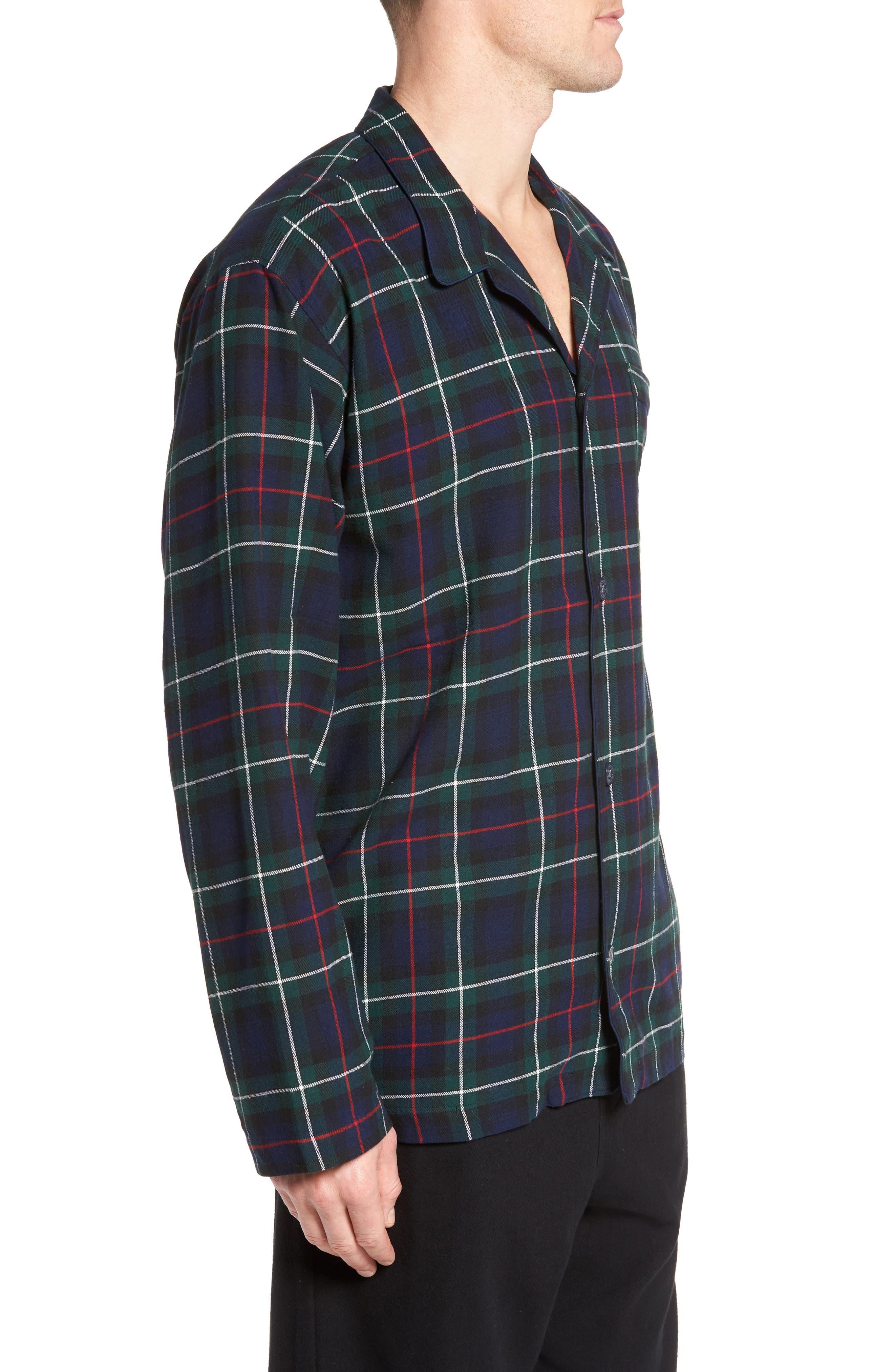 Polo Ralph Lauren Flannel Pajama Shirt,                             Alternate thumbnail 10, color,
