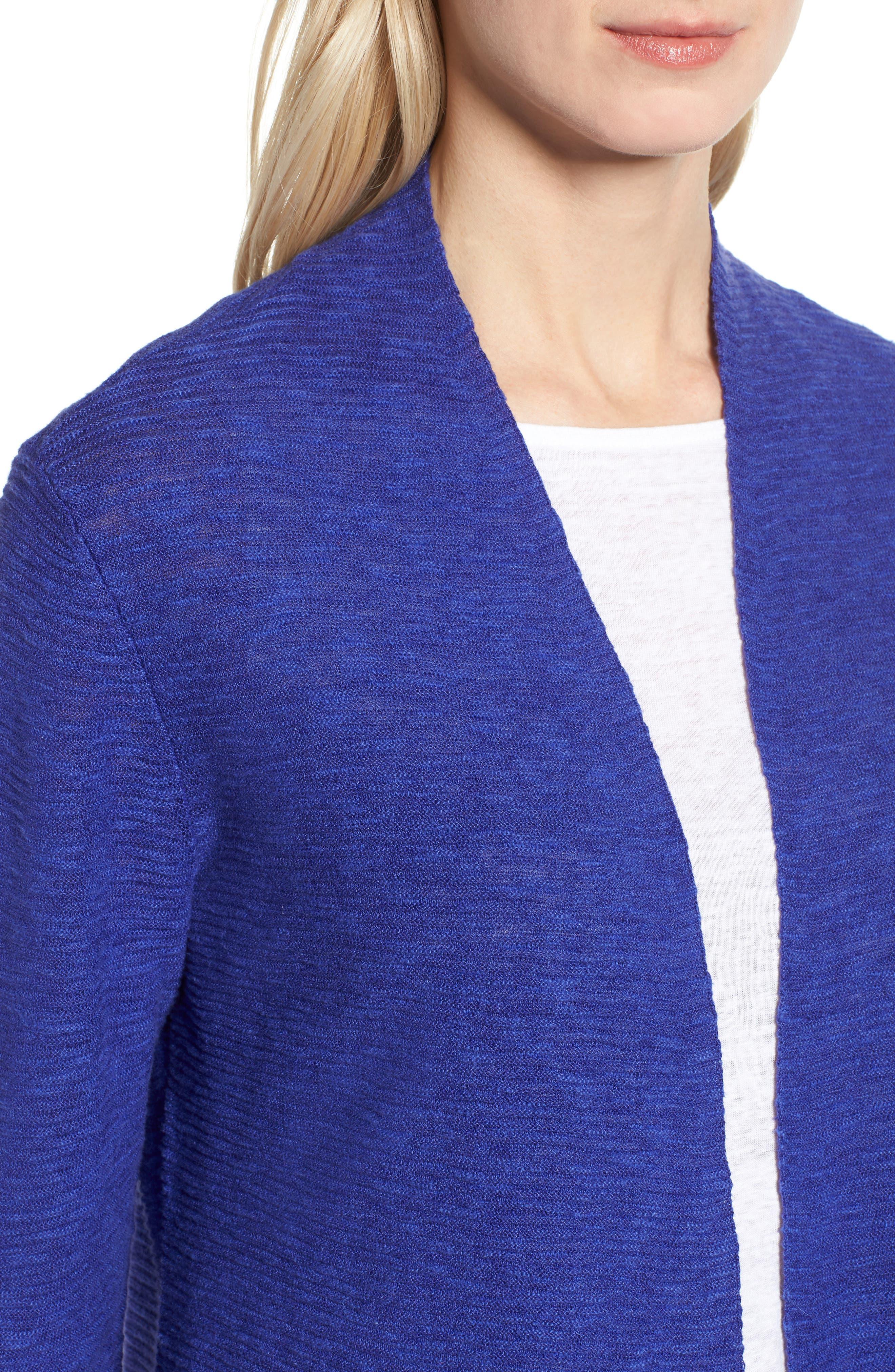 Simple Organic Linen & Cotton Cardigan,                             Alternate thumbnail 12, color,