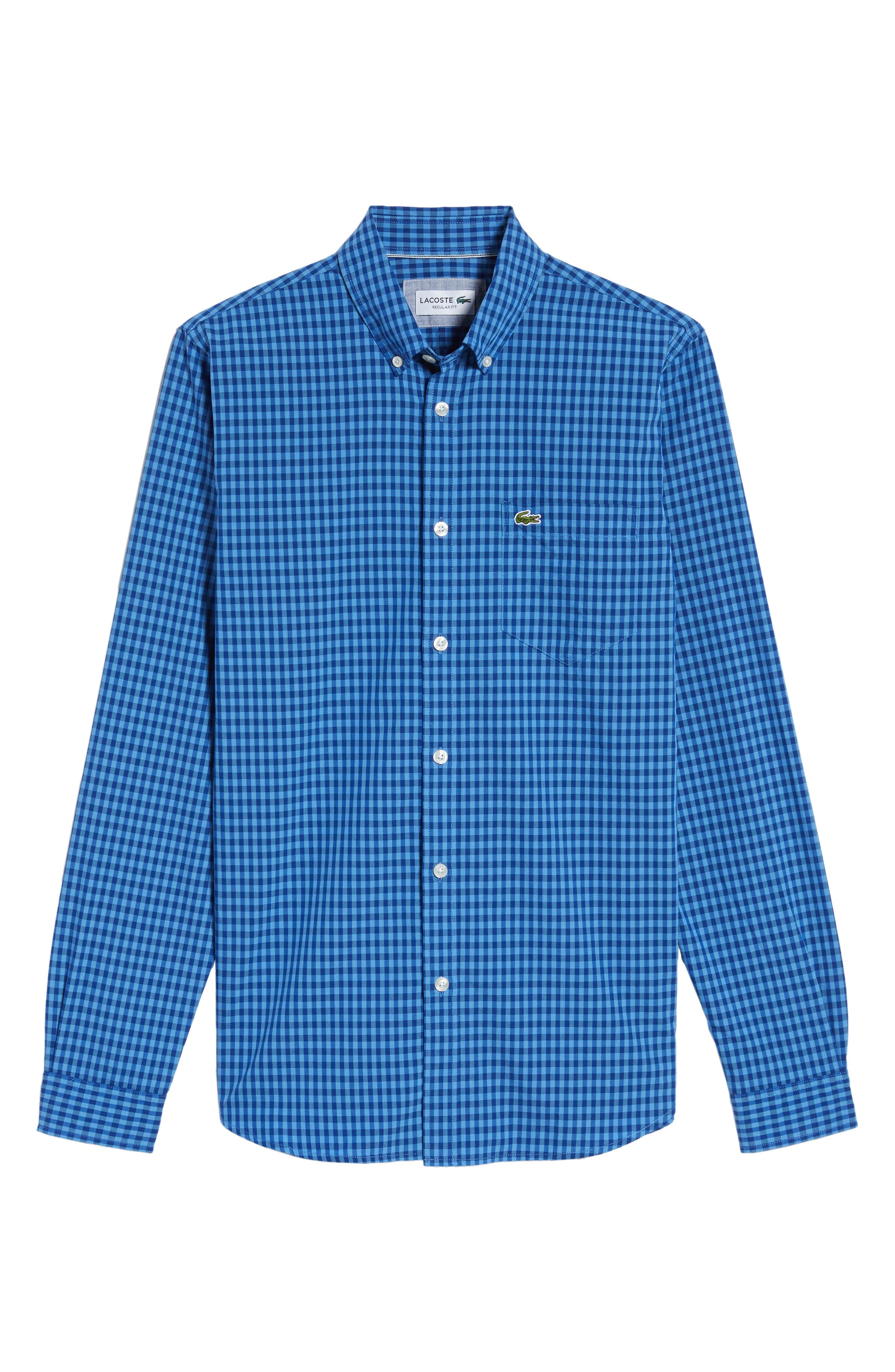 Gingham Check Poplin Shirt,                             Alternate thumbnail 6, color,                             493
