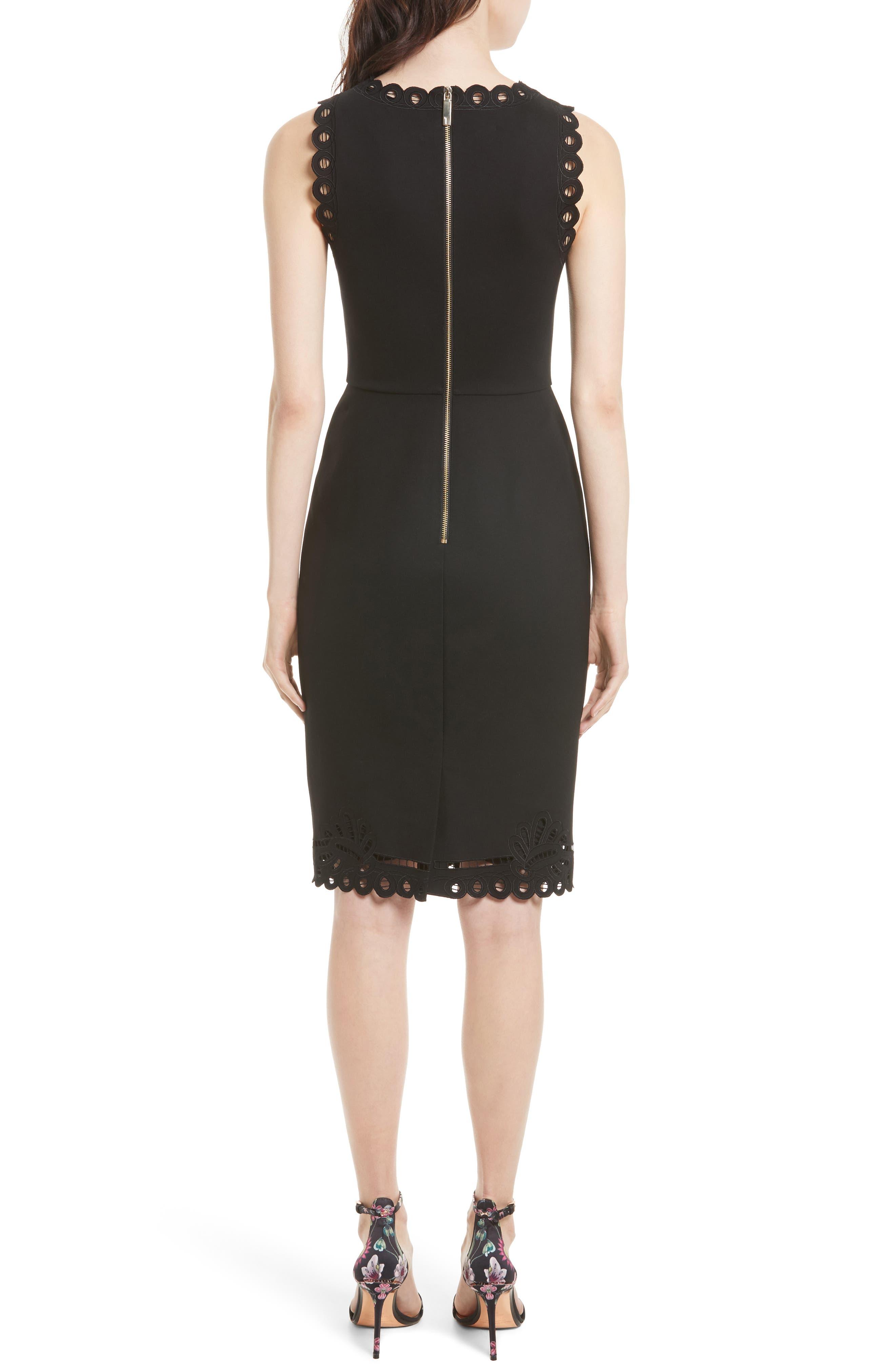 Verita Cutout Yoke Sheath Dress,                             Alternate thumbnail 5, color,