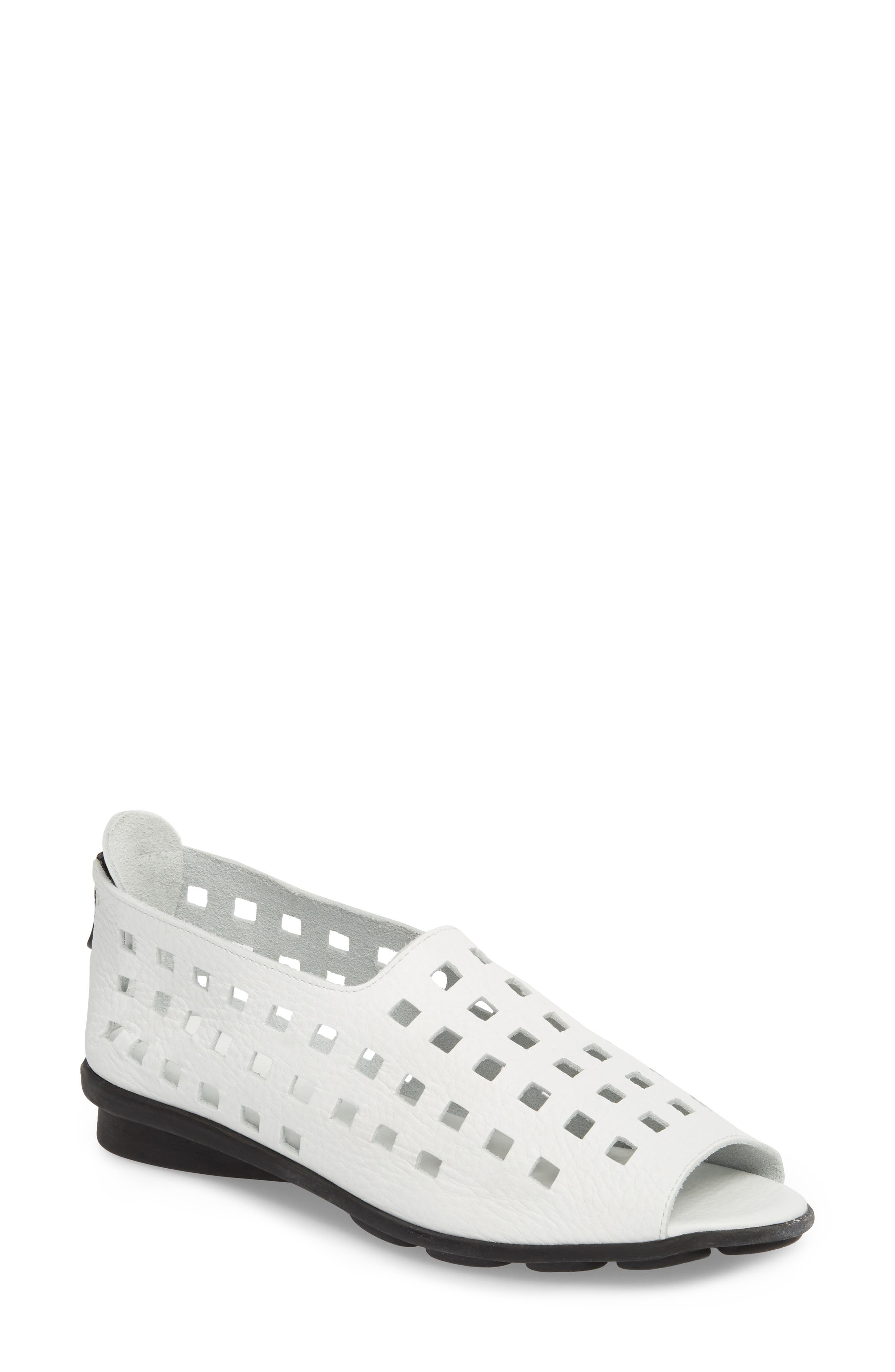 'Drick' Flat,                         Main,                         color, BLANCO LEATHER