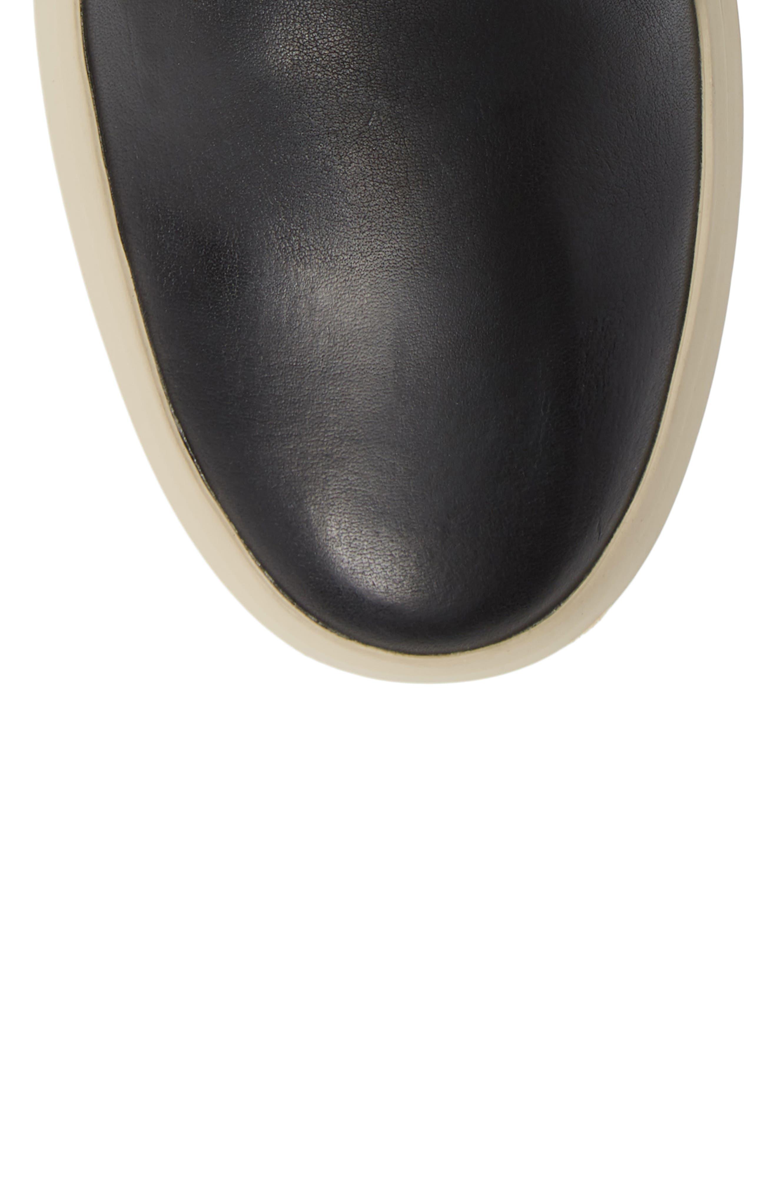Beacon High Top Platform Sneaker,                             Alternate thumbnail 5, color,                             BLACK
