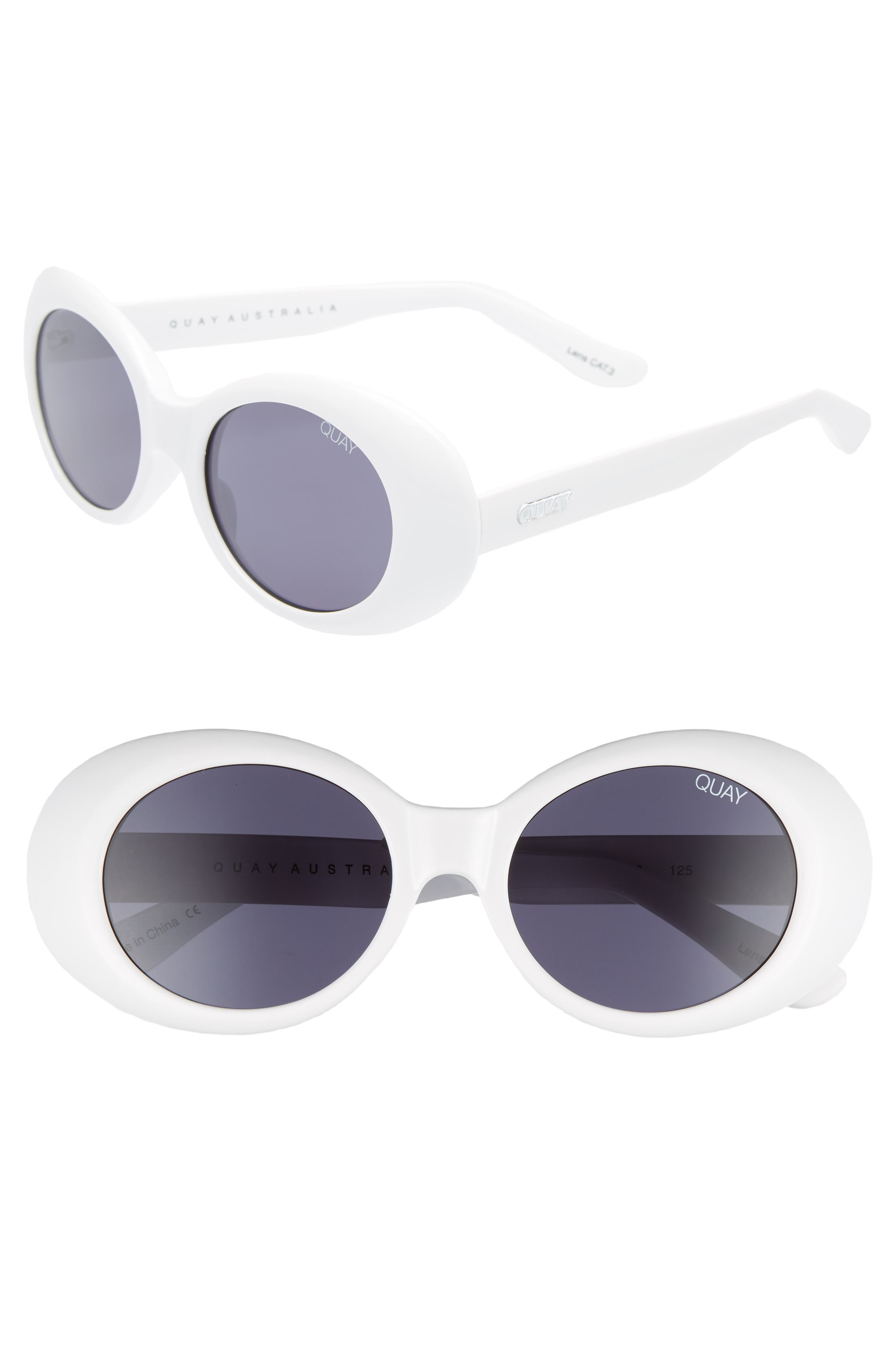 Frivolous 50mm Oval Sunglasses,                             Main thumbnail 1, color,                             100