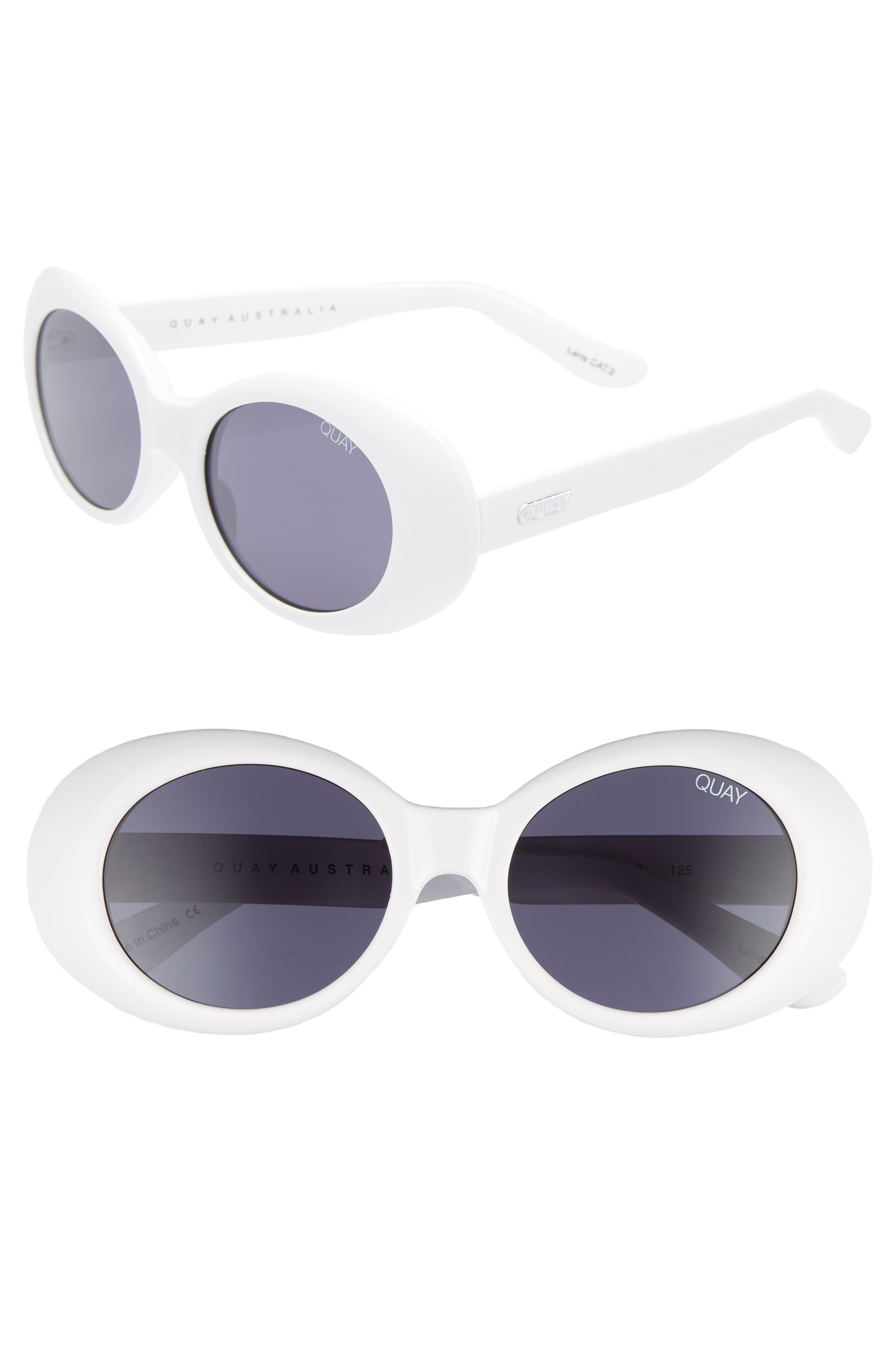 Frivolous 50mm Oval Sunglasses,                         Main,                         color, 100