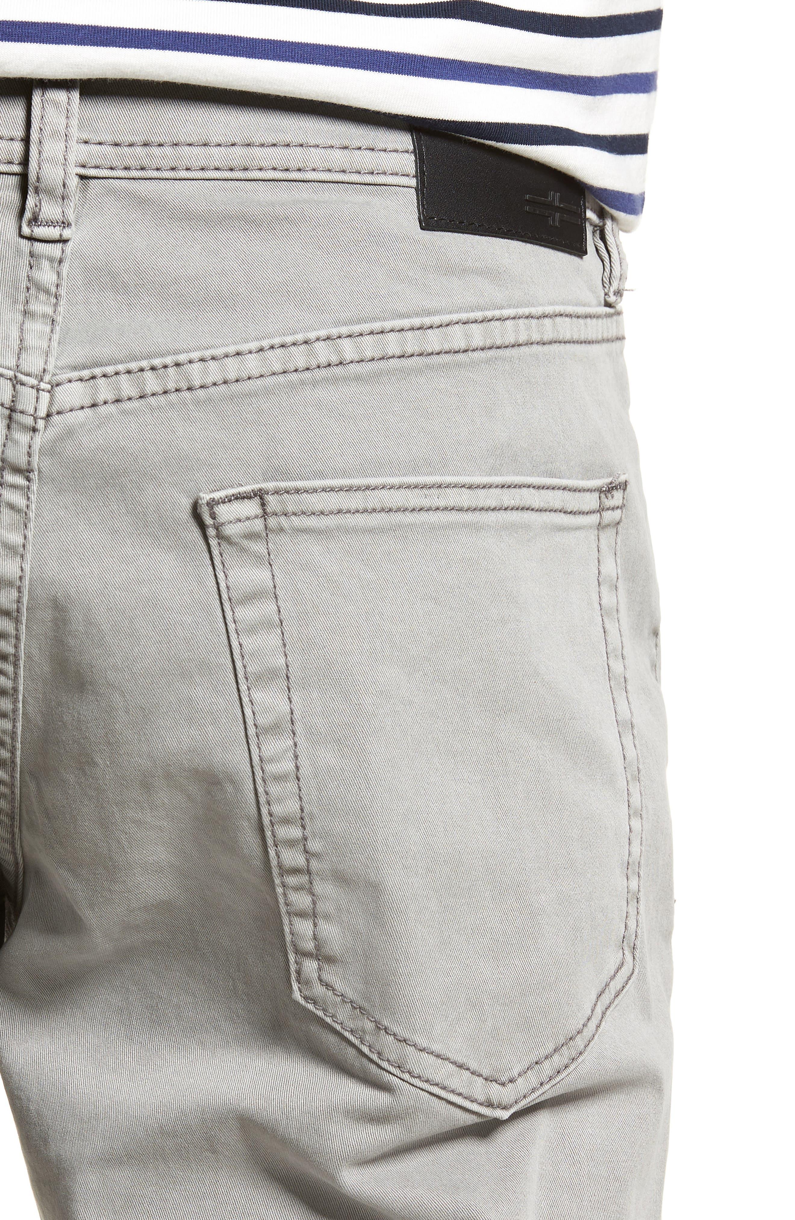 LIVERPOOL,                             Regent Relaxed Straight Leg Twill Pants,                             Alternate thumbnail 4, color,                             SHARKSKIN
