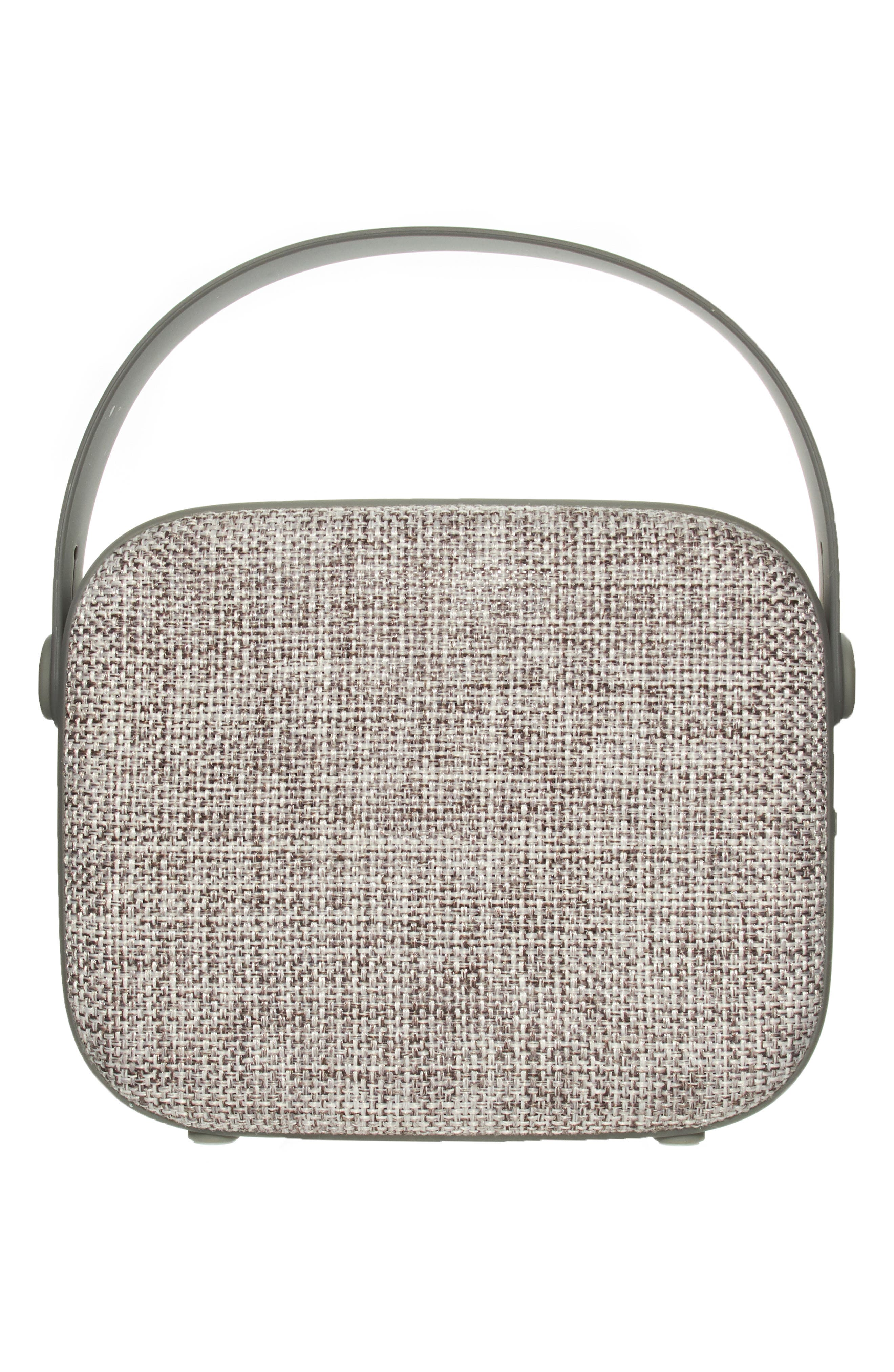 Vintage Wireless Bluetooth<sup>®</sup> Speaker,                             Main thumbnail 1, color,                             GREY