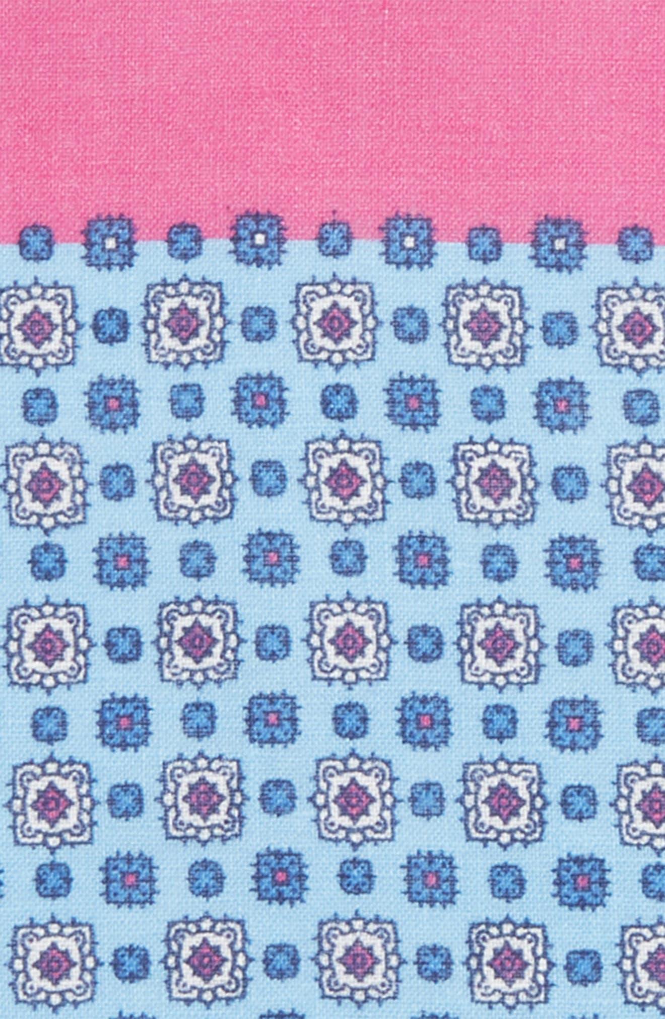 Medallion Linen Pocket Square,                             Alternate thumbnail 6, color,