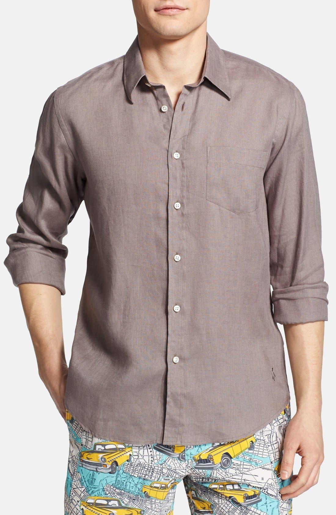 'Caroubier' Linen Shirt,                             Alternate thumbnail 50, color,