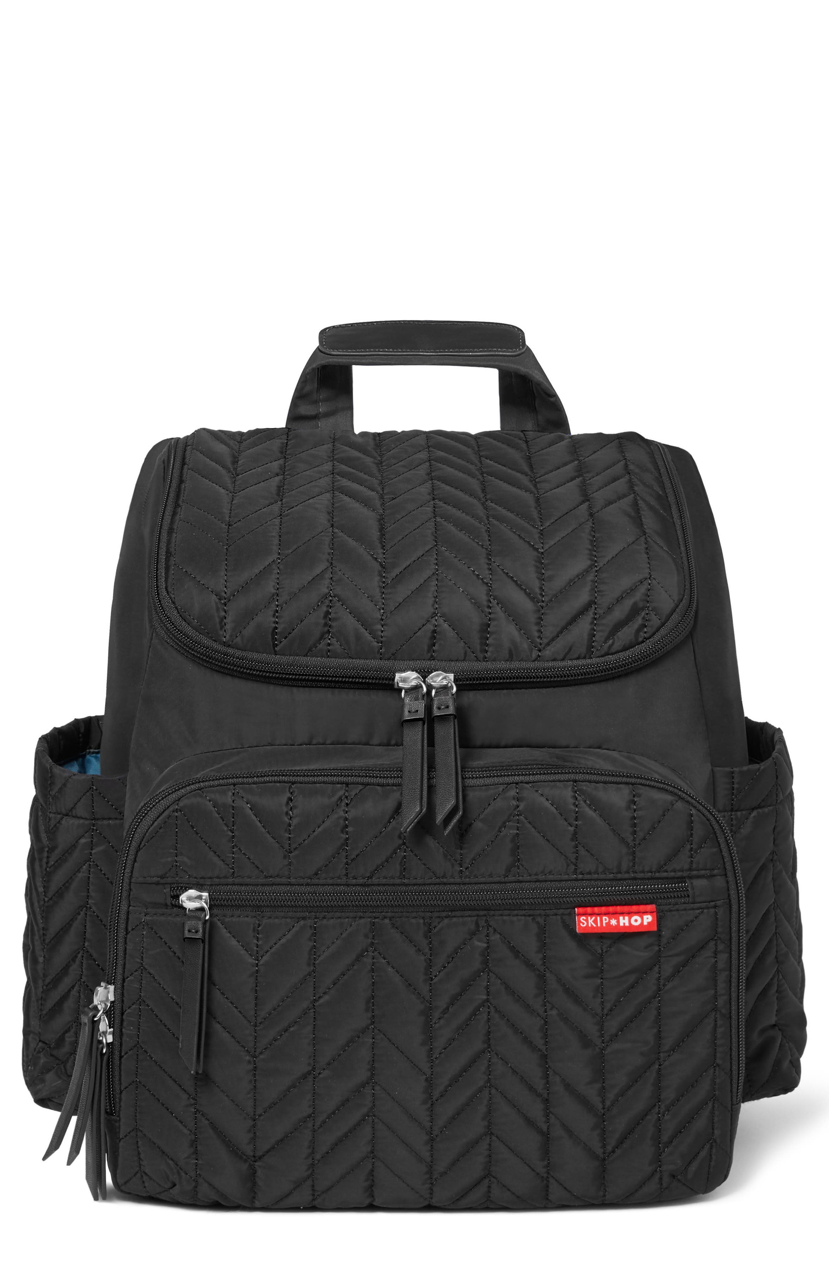 'Forma' Diaper Backpack,                         Main,                         color, JET BLACK