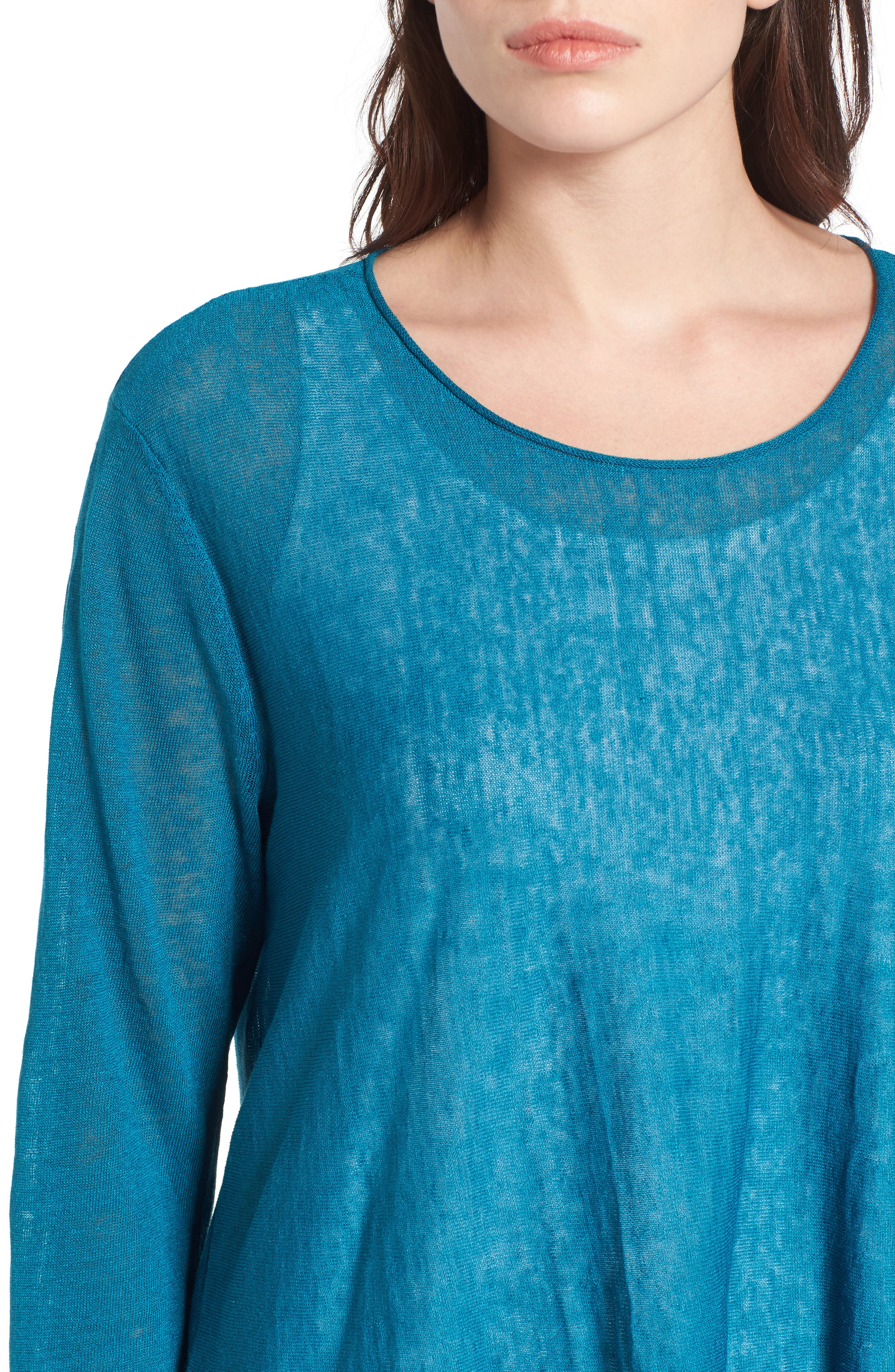 Organic Linen Blend Swing Sweater,                             Alternate thumbnail 34, color,