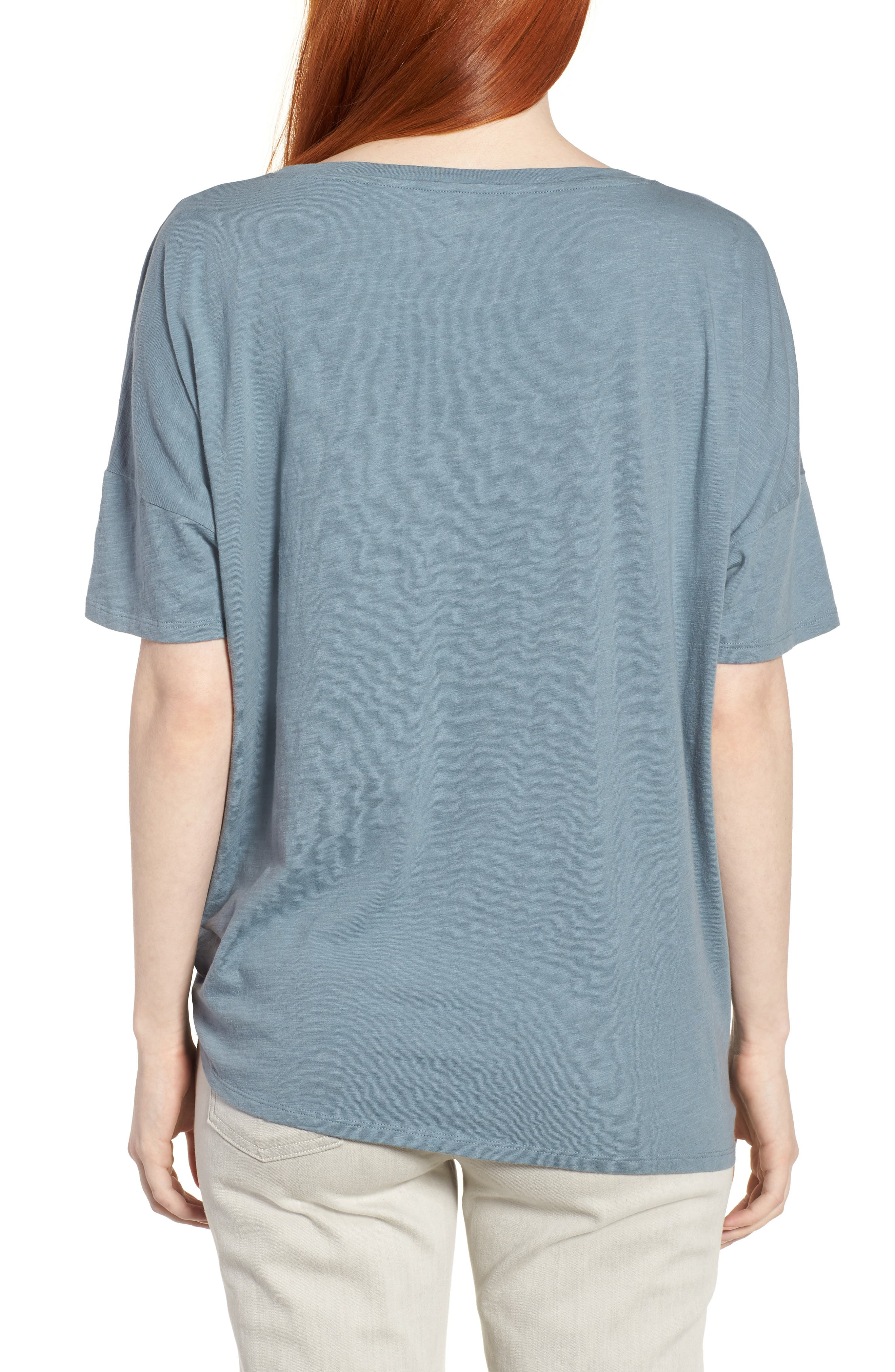 Tie Hem Organic Cotton Tee,                             Alternate thumbnail 11, color,