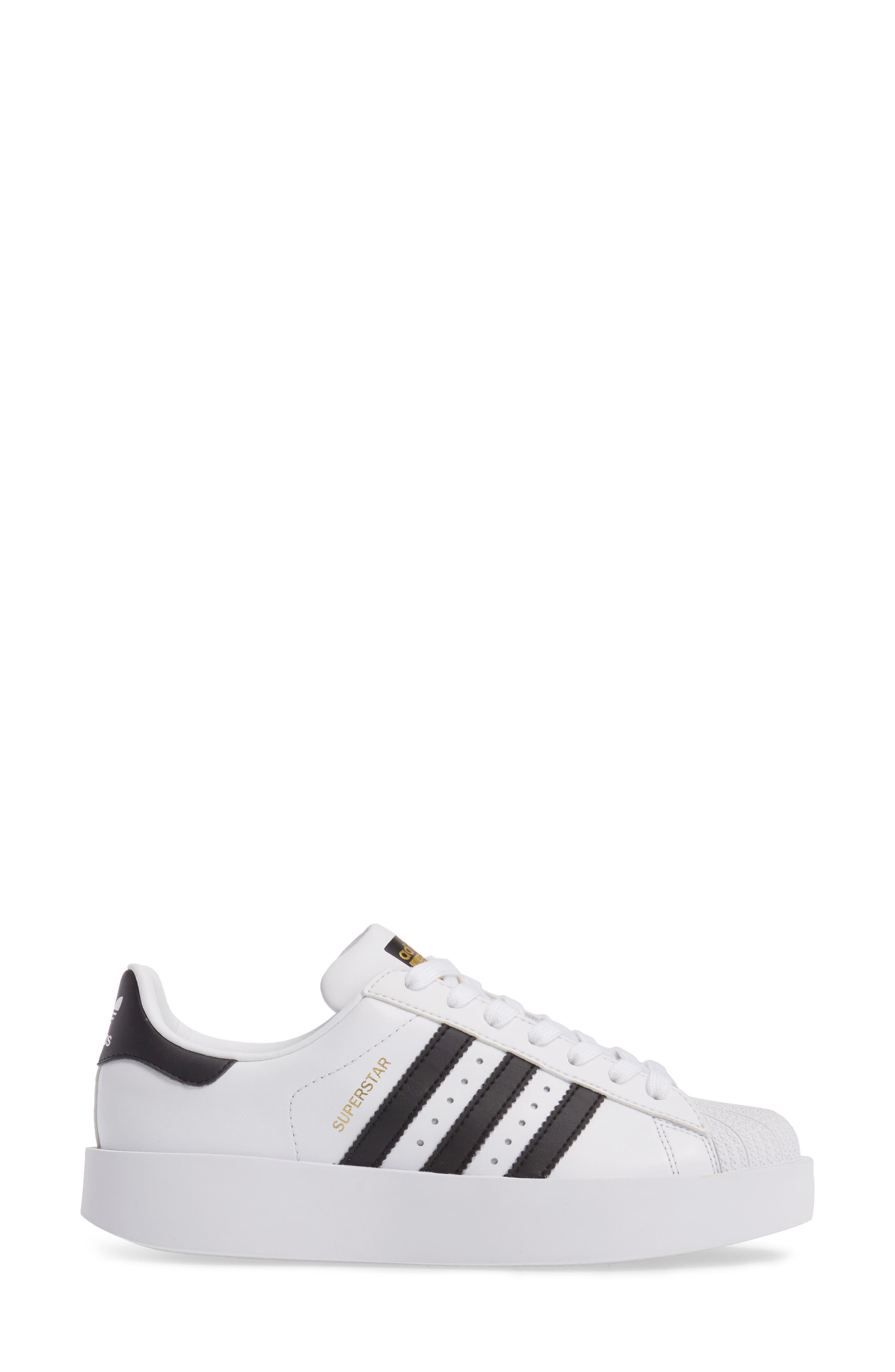 Superstar Bold Platform Sneaker,                             Alternate thumbnail 3, color,                             100