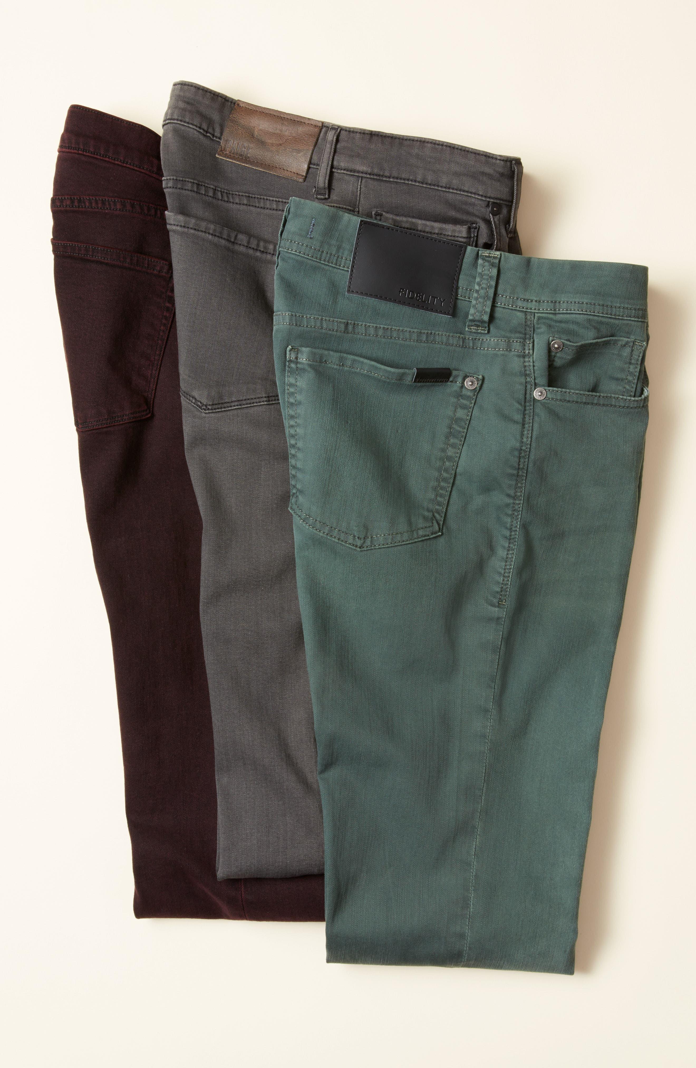 Transcend - Lennox Slim Fit Jeans,                             Alternate thumbnail 7, color,                             020