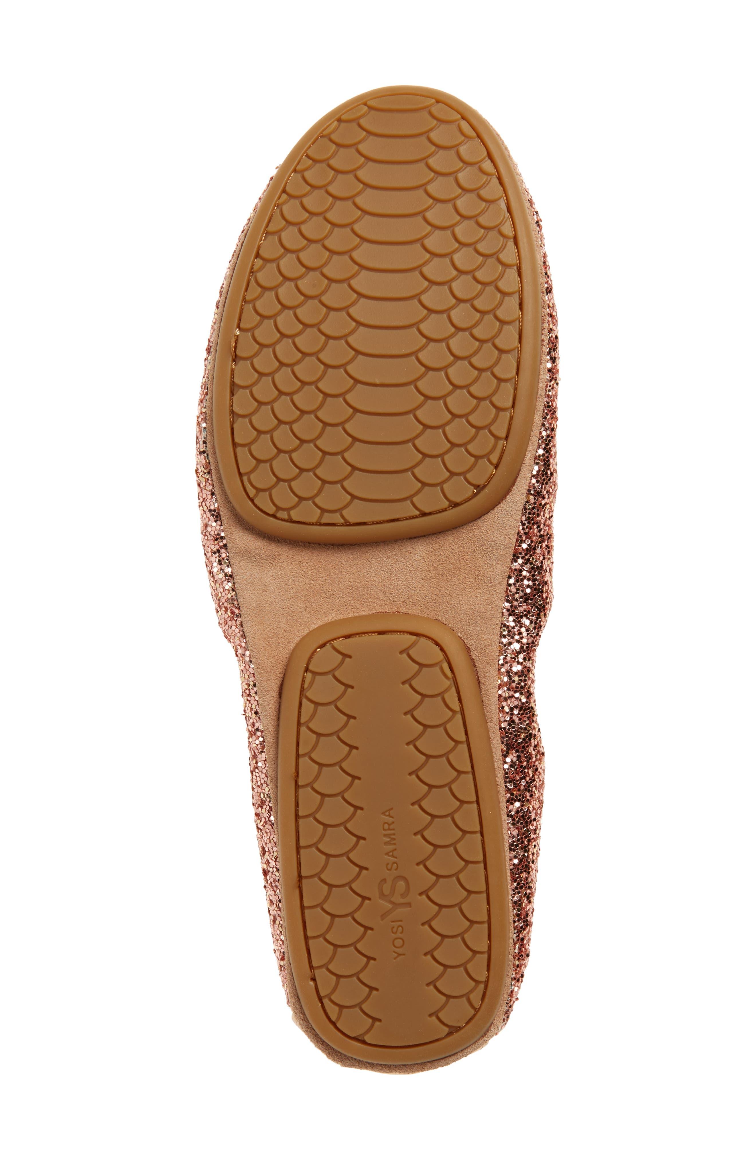 Serna Foldable Glitter Ballet Flat,                             Alternate thumbnail 23, color,