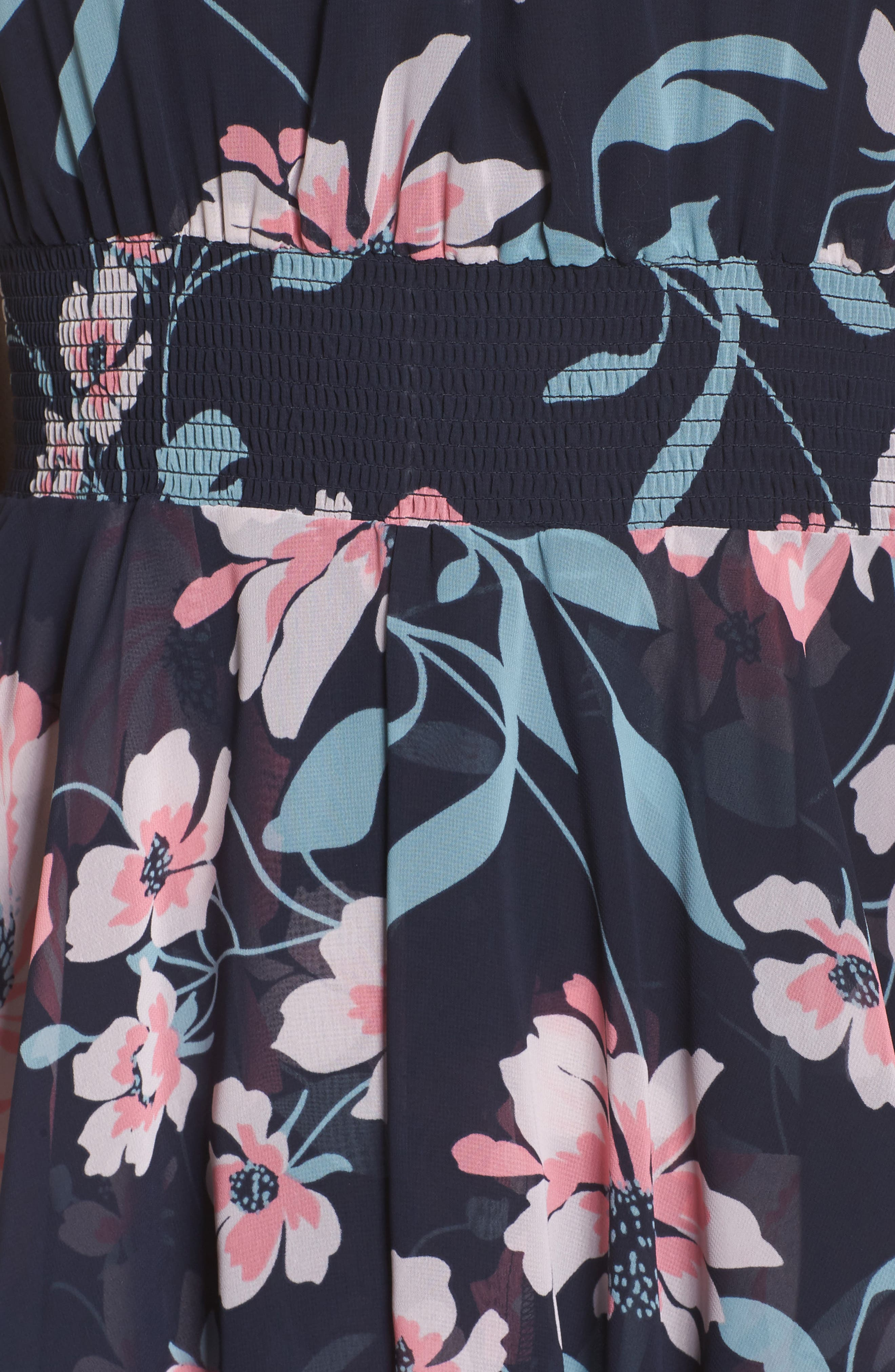 Floral Maxi Dress,                             Alternate thumbnail 5, color,