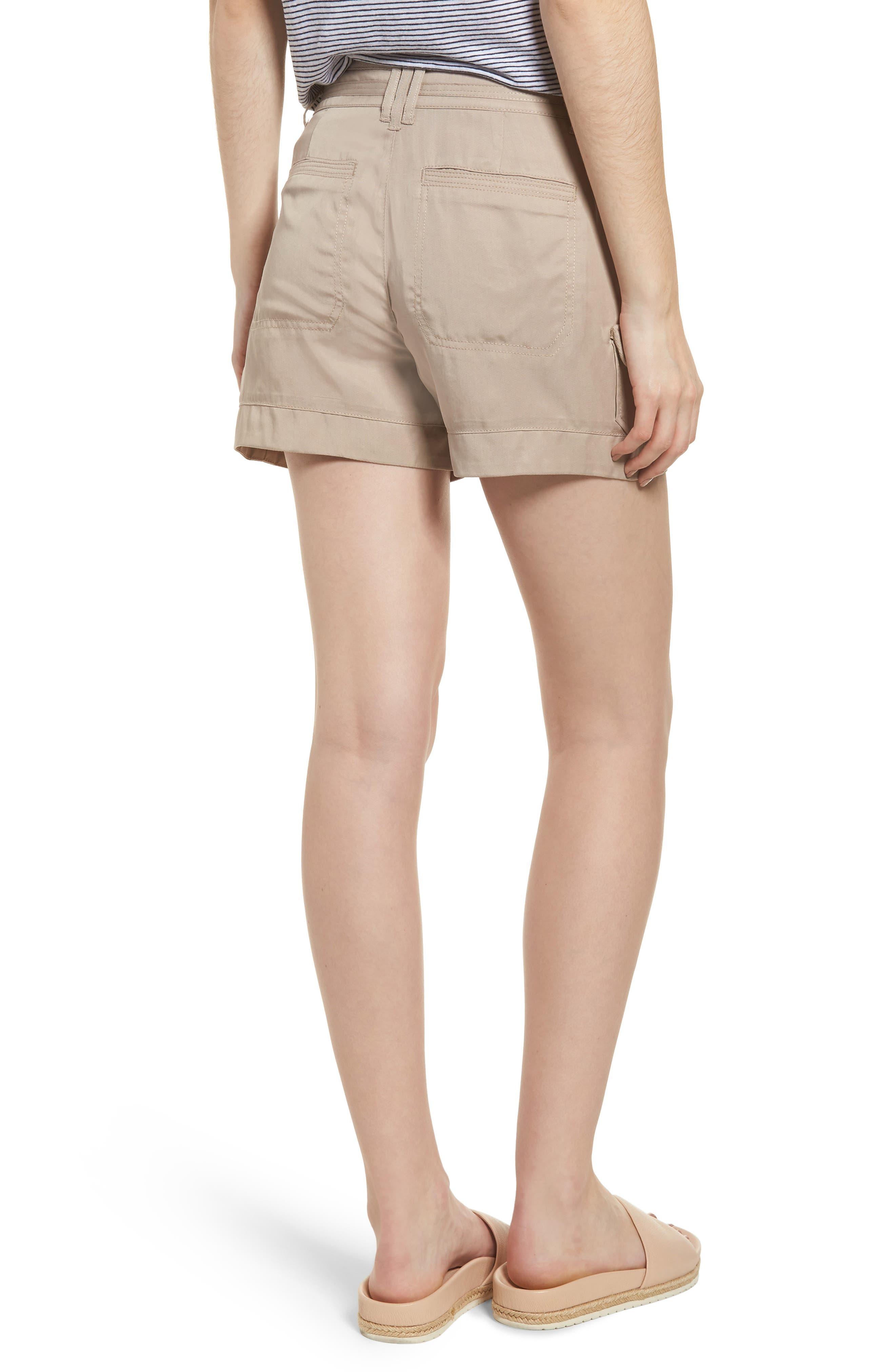 High Rise Tencel Shorts,                             Alternate thumbnail 7, color,
