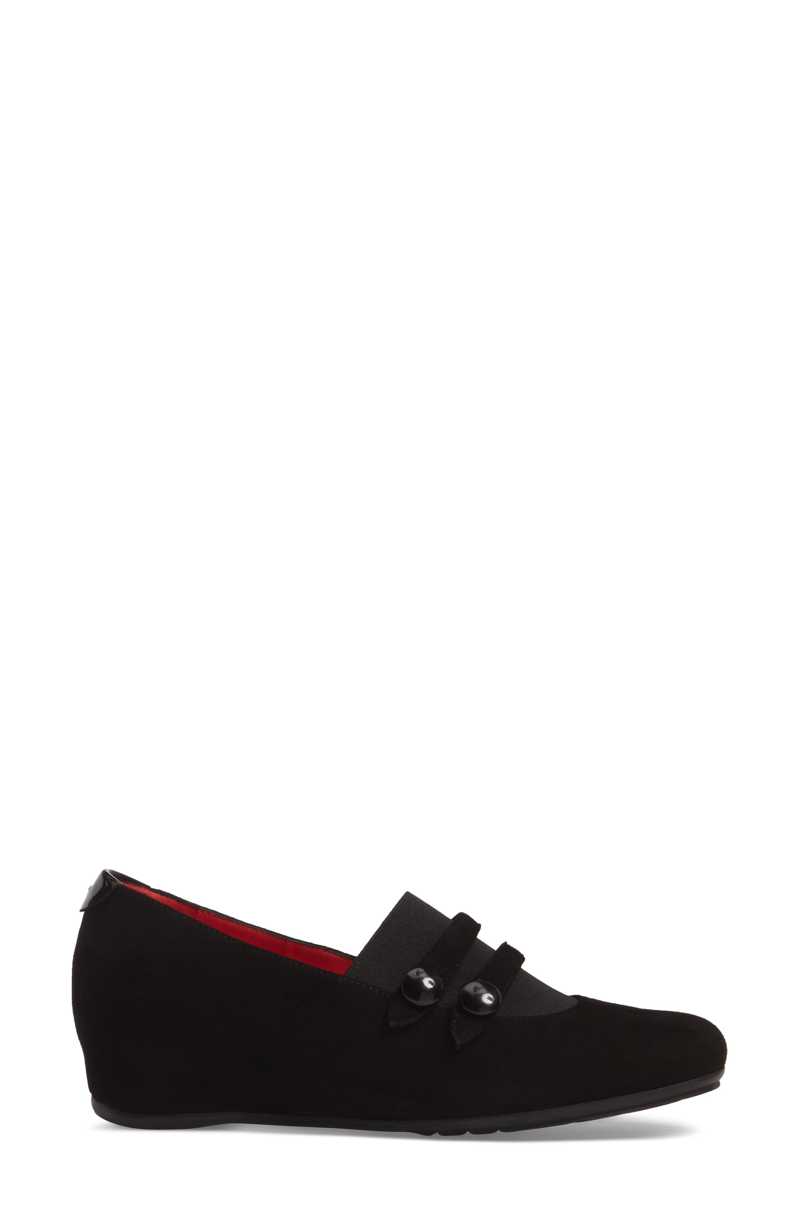 Double Strap Wedge,                             Alternate thumbnail 3, color,                             001
