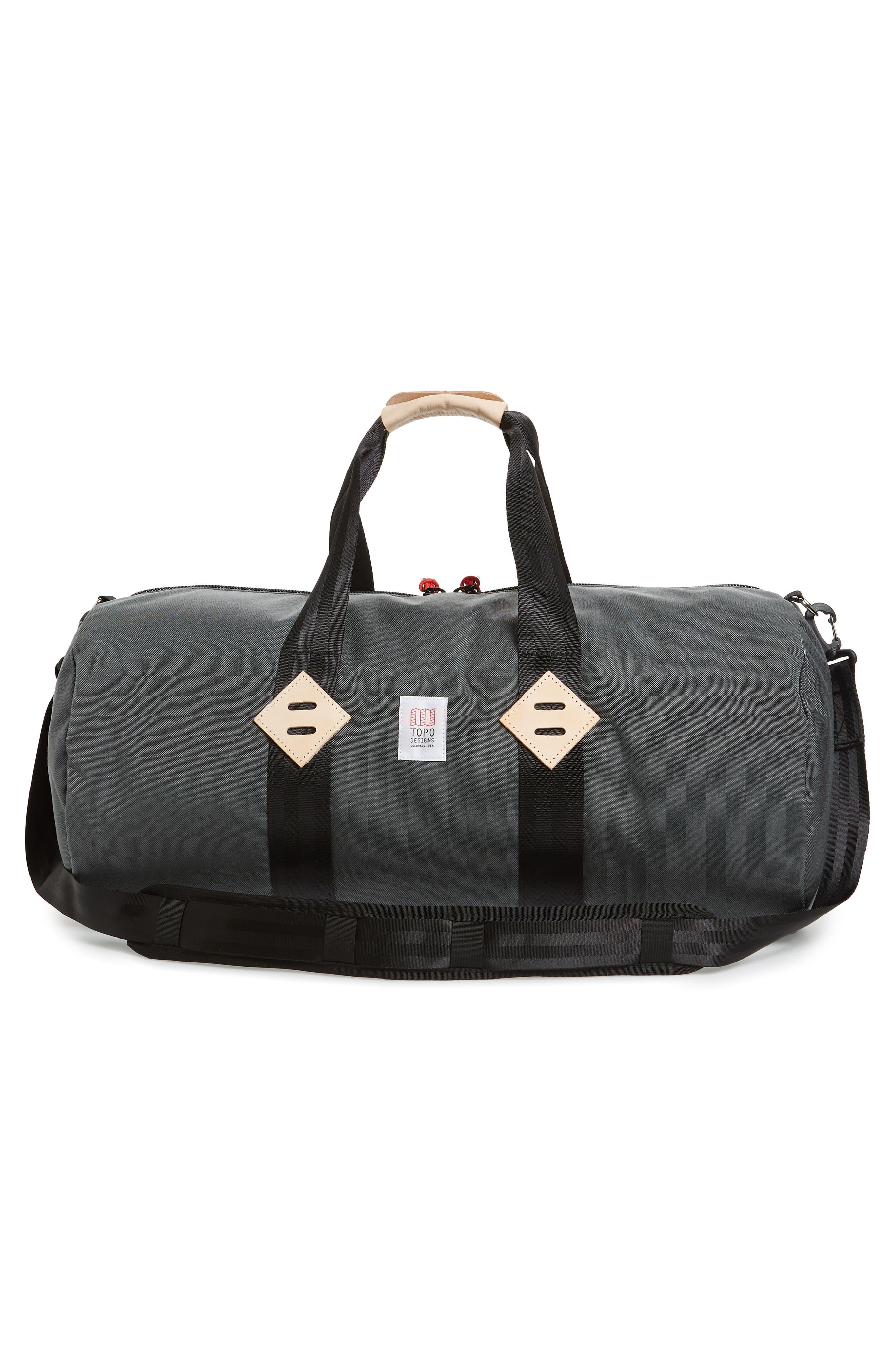 Classic Duffel Bag,                             Alternate thumbnail 3, color,                             CHARCOAL