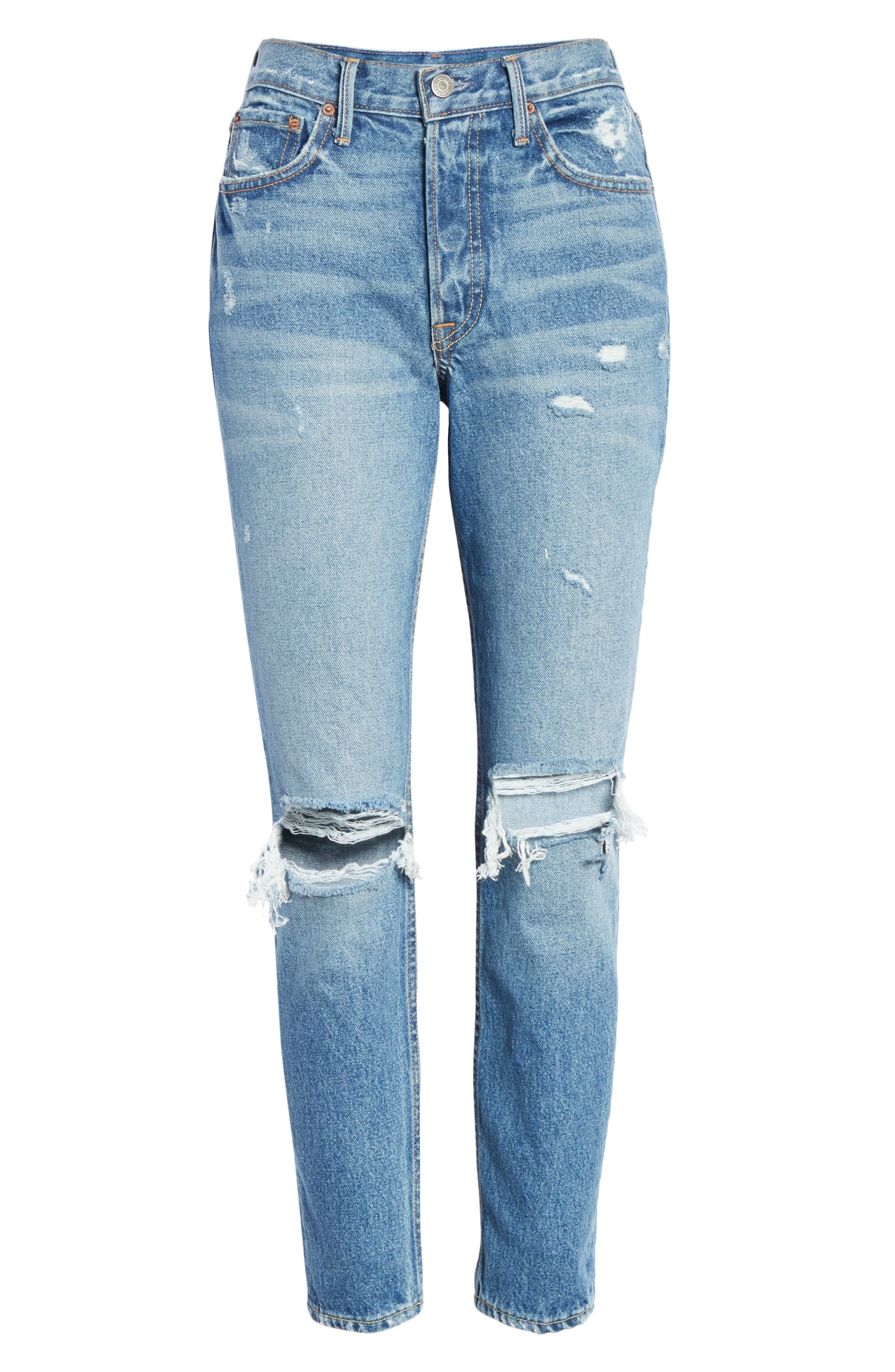 GRLFRND,                             Karolina Ripped High Waist Skinny Jeans,                             Alternate thumbnail 7, color,                             I PUT A SPELL ON YOU