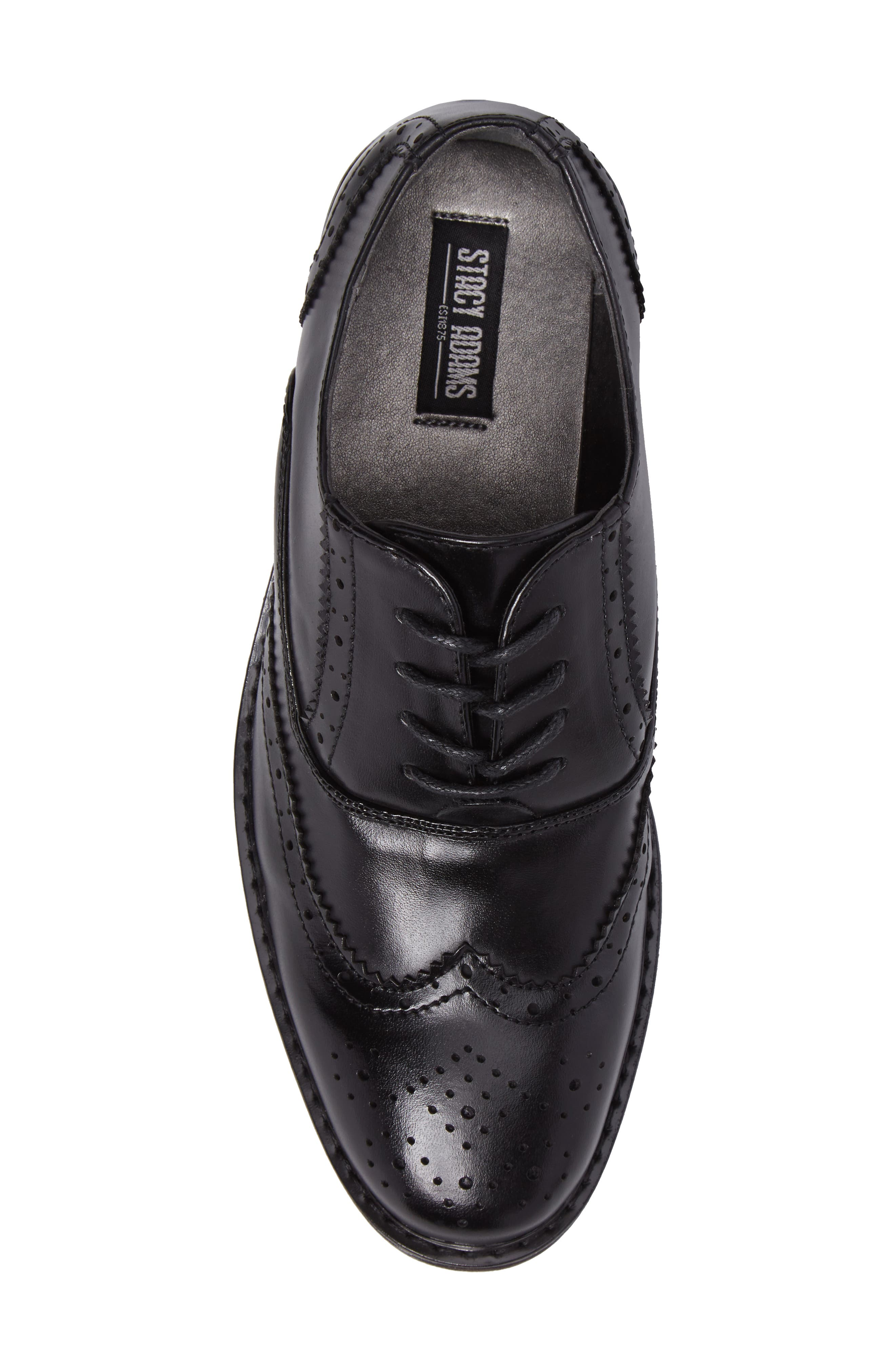 Ty Wingtip Derby,                             Alternate thumbnail 5, color,                             BLACK