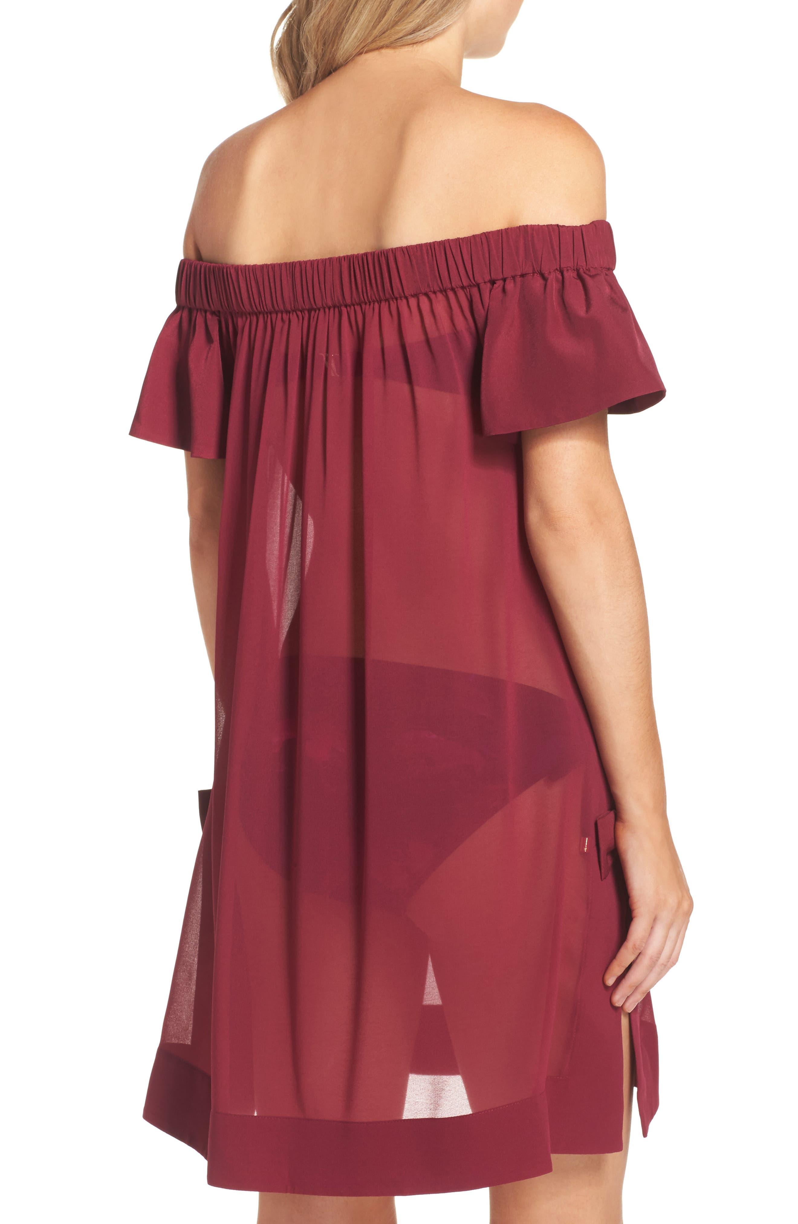 Anete Bardot Cover-Up Dress,                             Alternate thumbnail 2, color,                             501