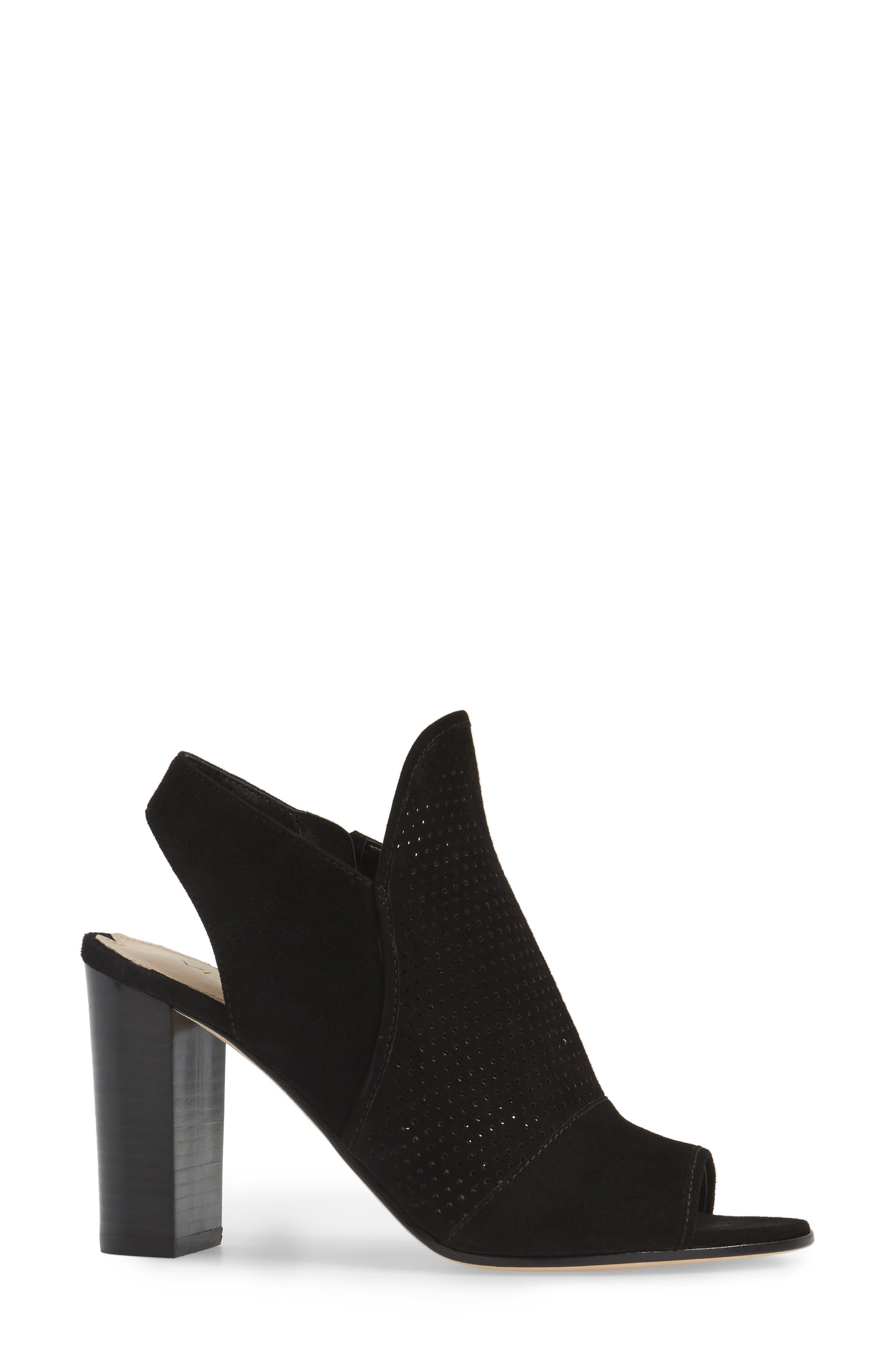 Gaze Block Heel Sandal,                             Alternate thumbnail 3, color,                             001