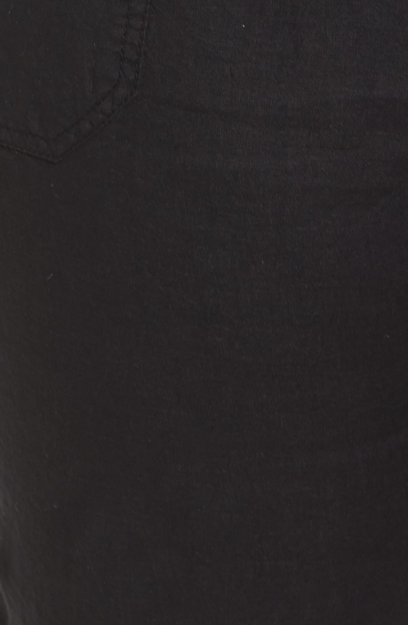 CASLON<SUP>®</SUP>,                             Drawstring Linen Joggers,                             Alternate thumbnail 6, color,                             BLACK