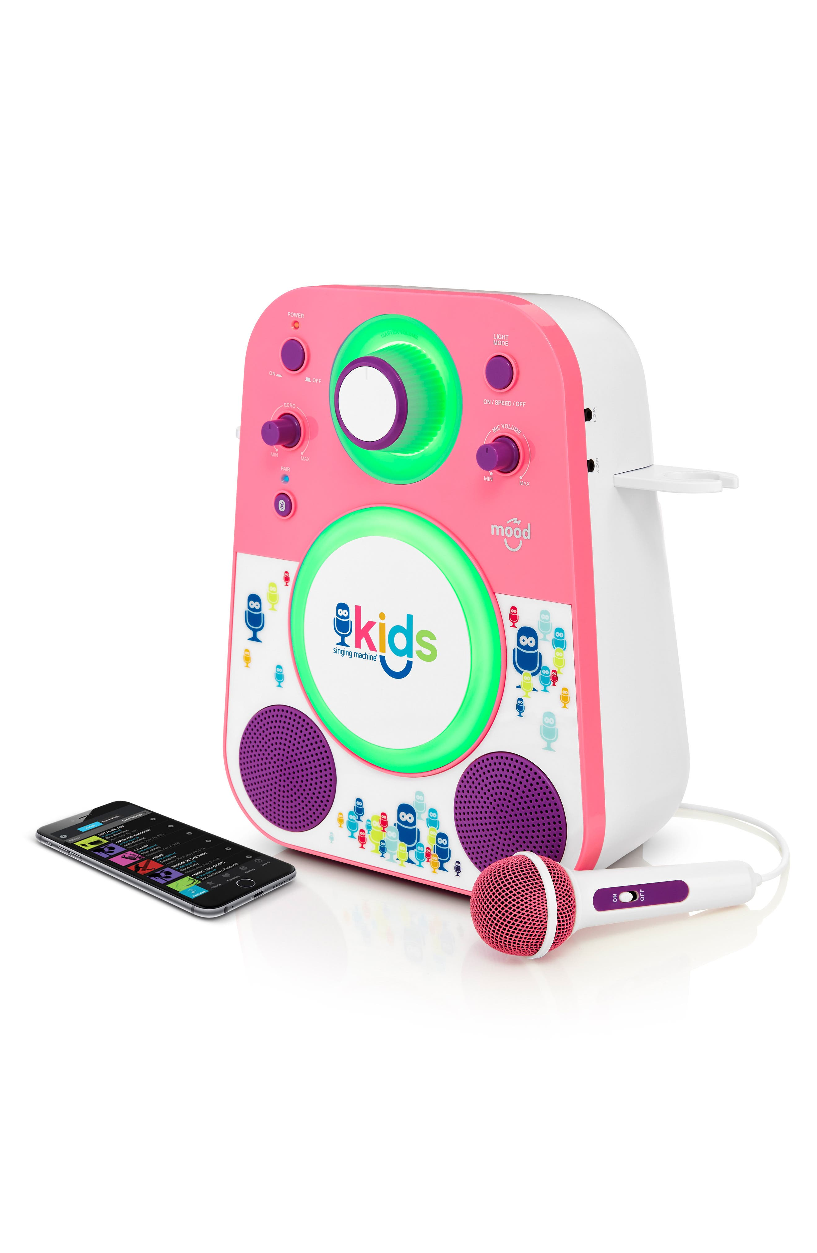 Kids Mood Karaoke System,                             Alternate thumbnail 4, color,                             PINK PURPLE