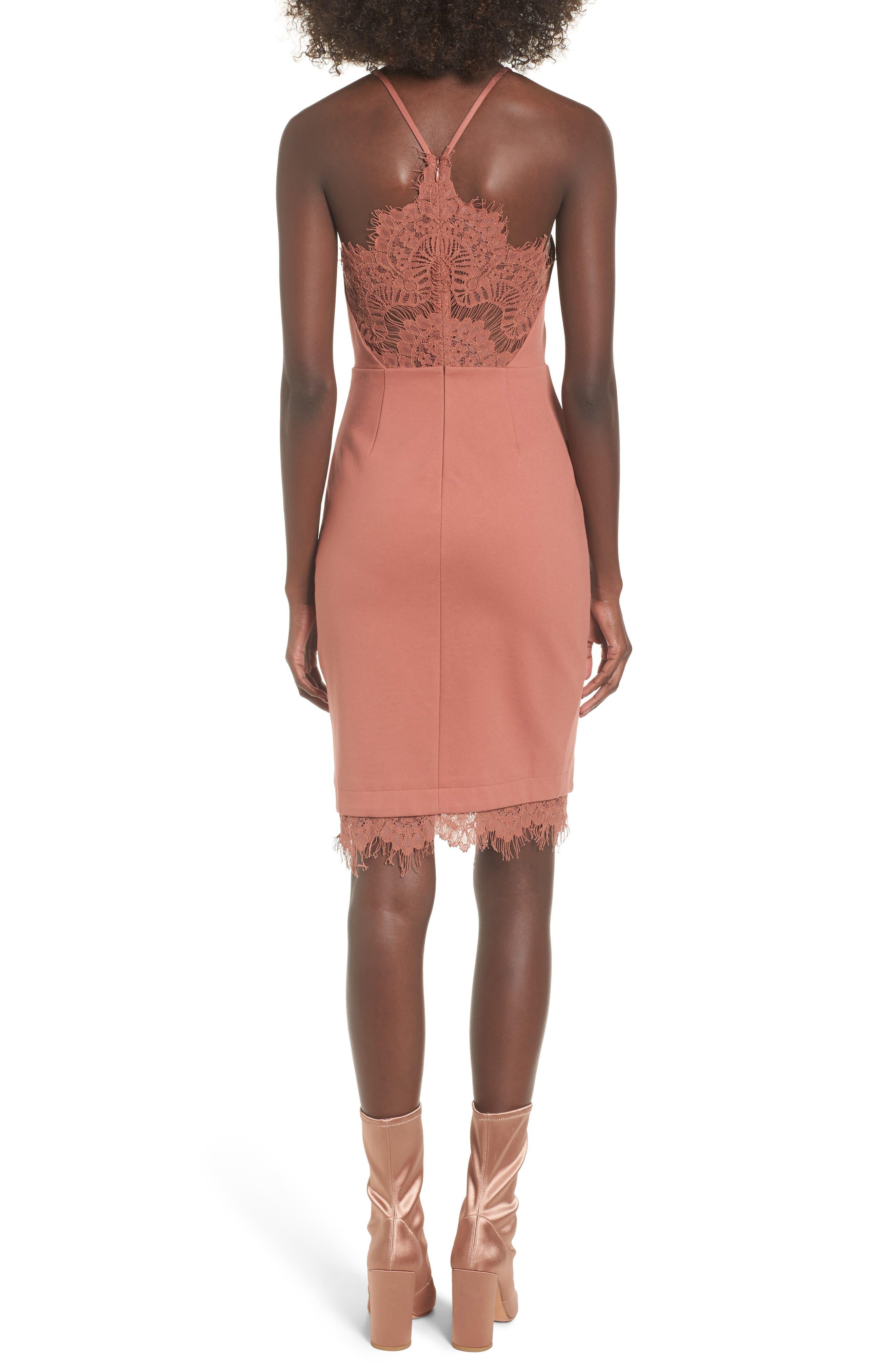 Lace Body-Con Dress,                             Alternate thumbnail 7, color,