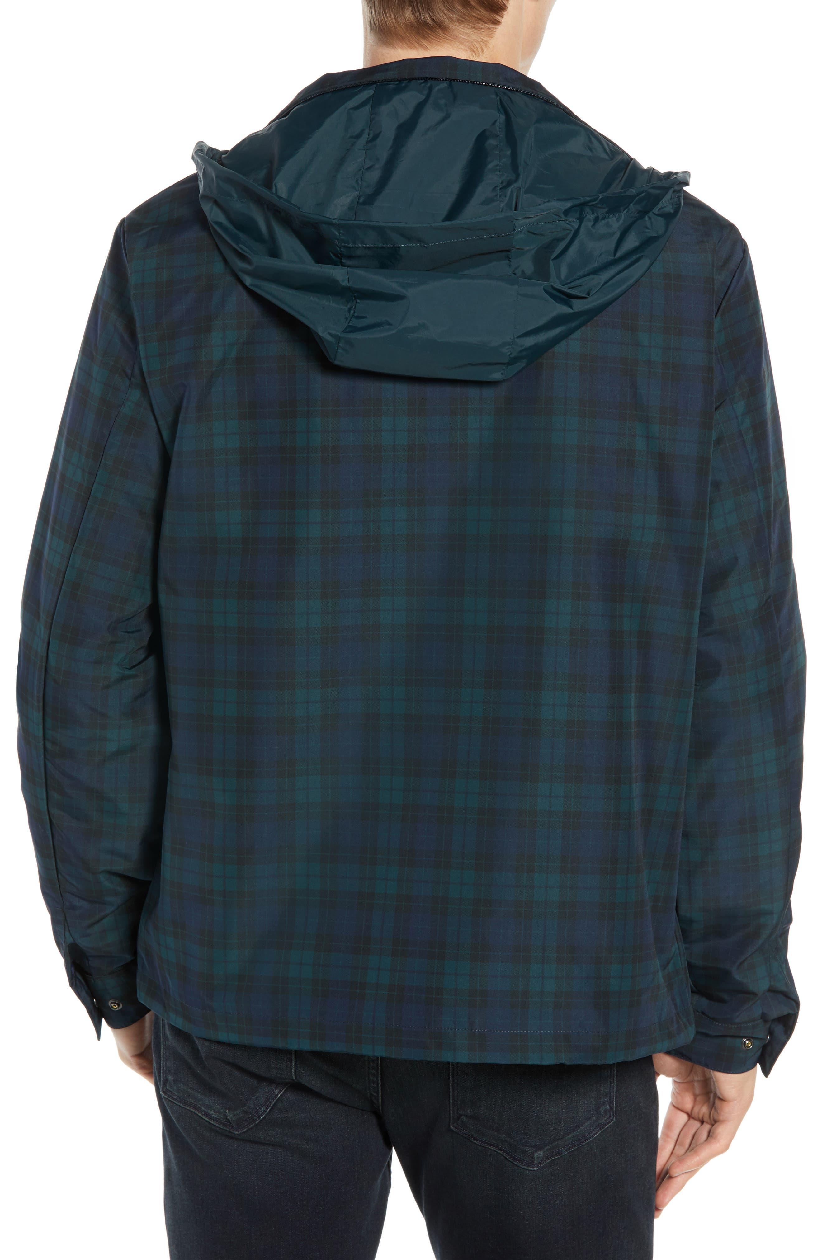 Regular Fit Check Windbreaker Jacket,                             Alternate thumbnail 2, color,                             NAVY BLUE/ SINOPLE BLACK