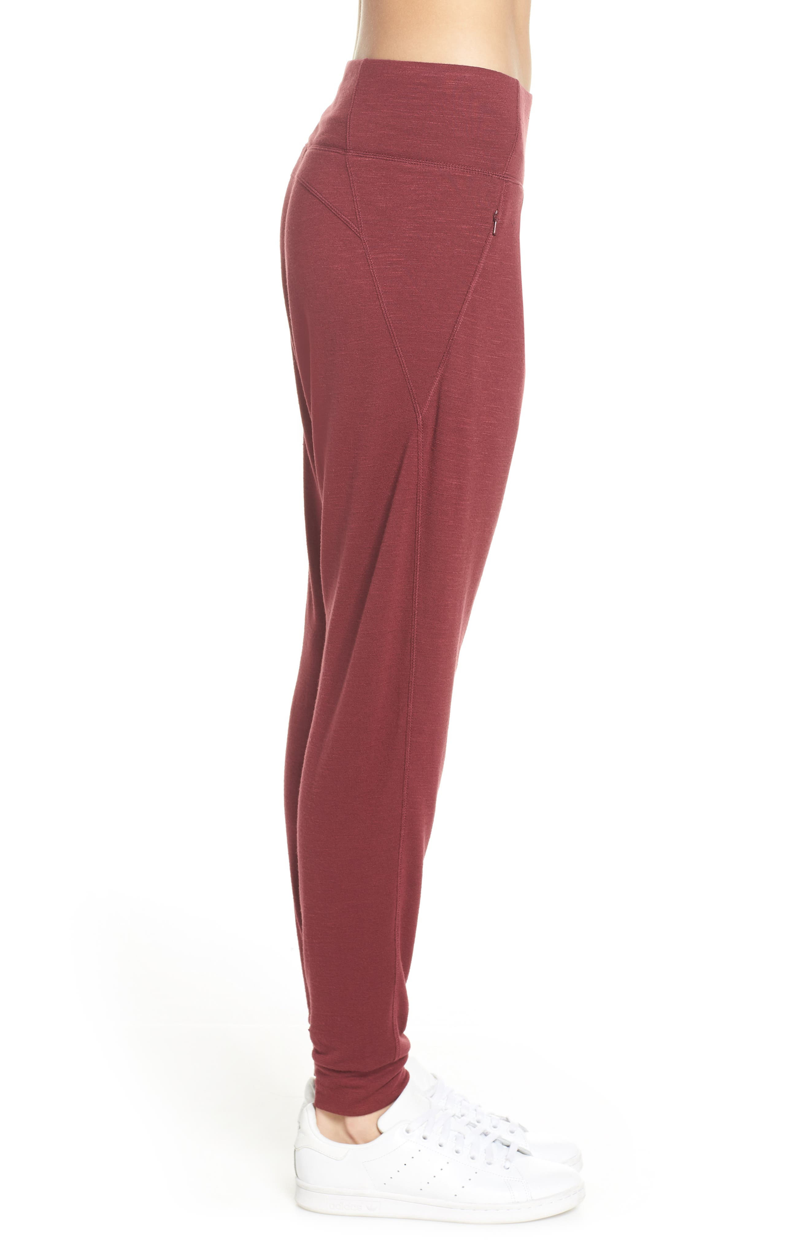 ZELLA,                             Flow with It Ankle Pants,                             Alternate thumbnail 3, color,                             RED TANNIN
