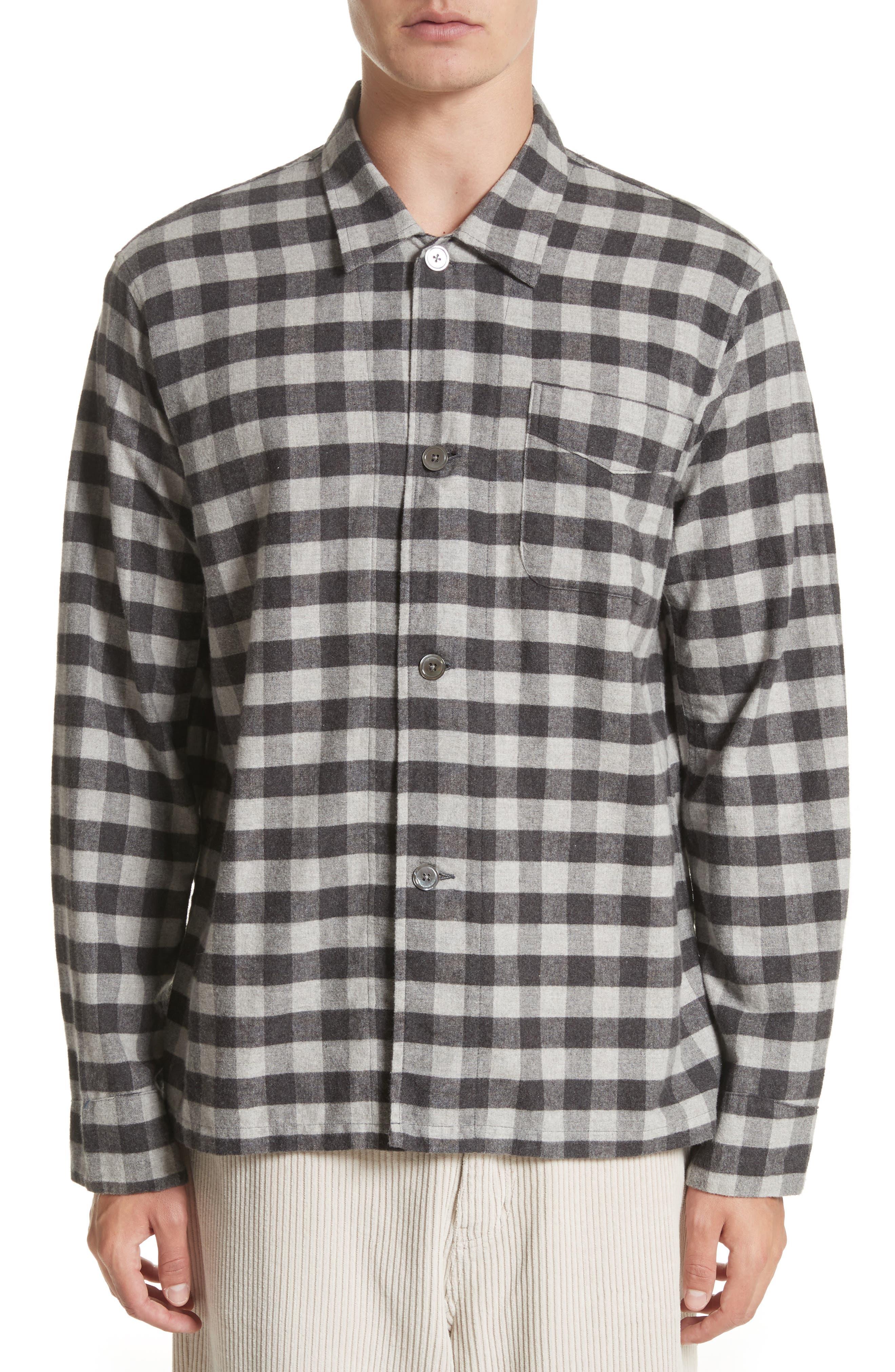 Buffalo Check Flannel Sport Shirt,                             Main thumbnail 1, color,                             001