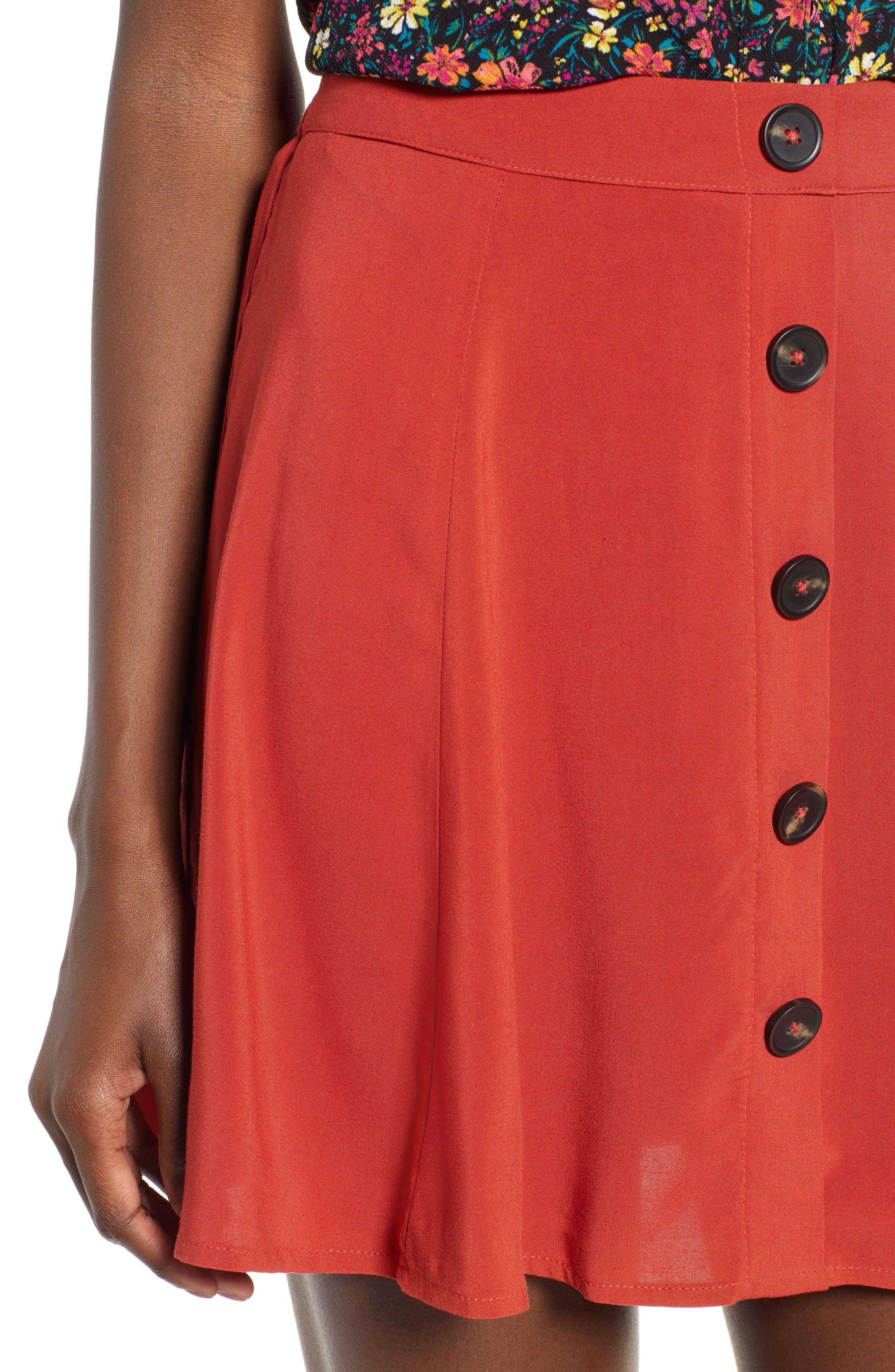 Button Front Skirt,                             Alternate thumbnail 4, color,                             649
