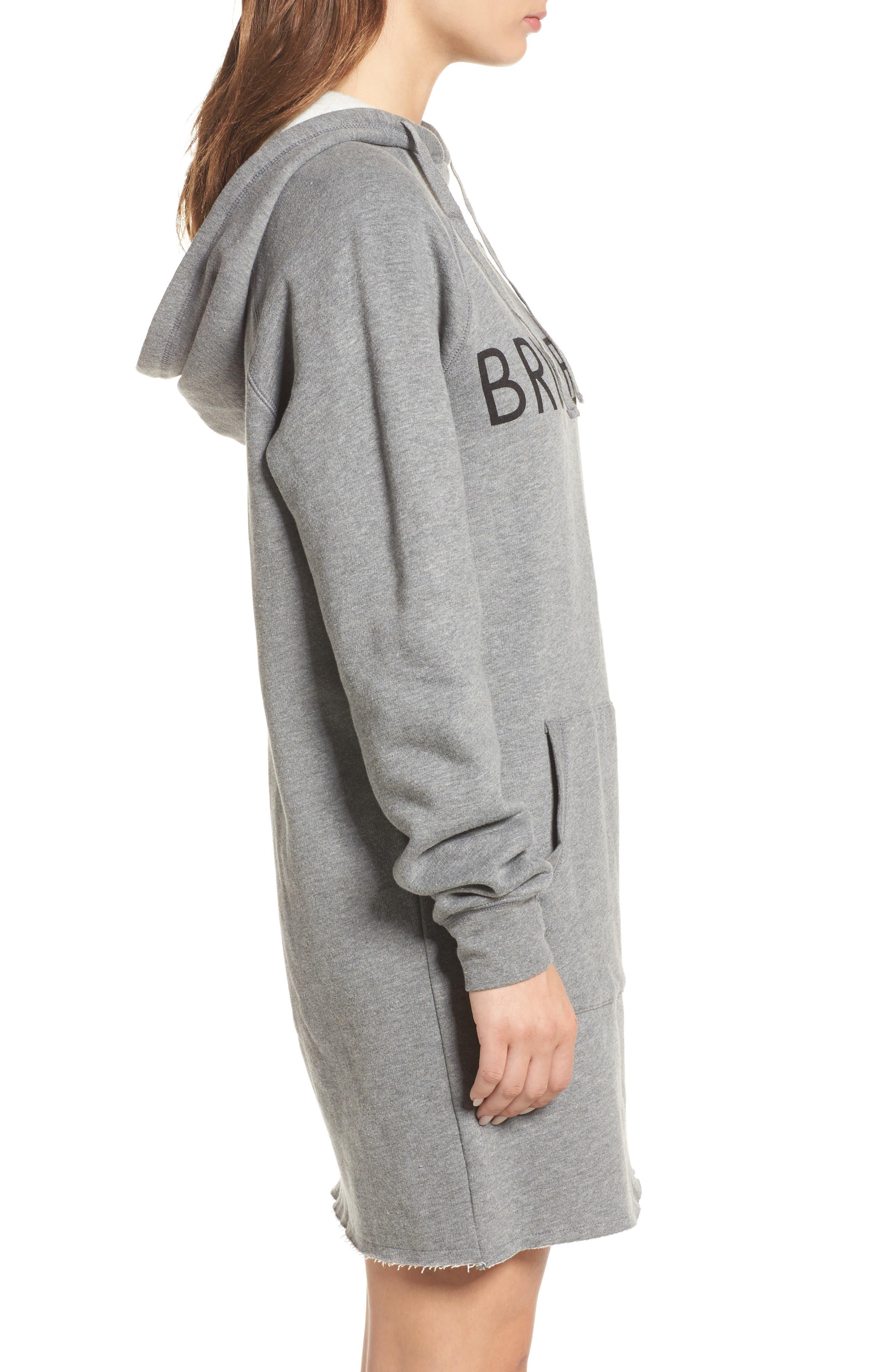 Brunette Sweatshirt Dress,                             Alternate thumbnail 3, color,                             020