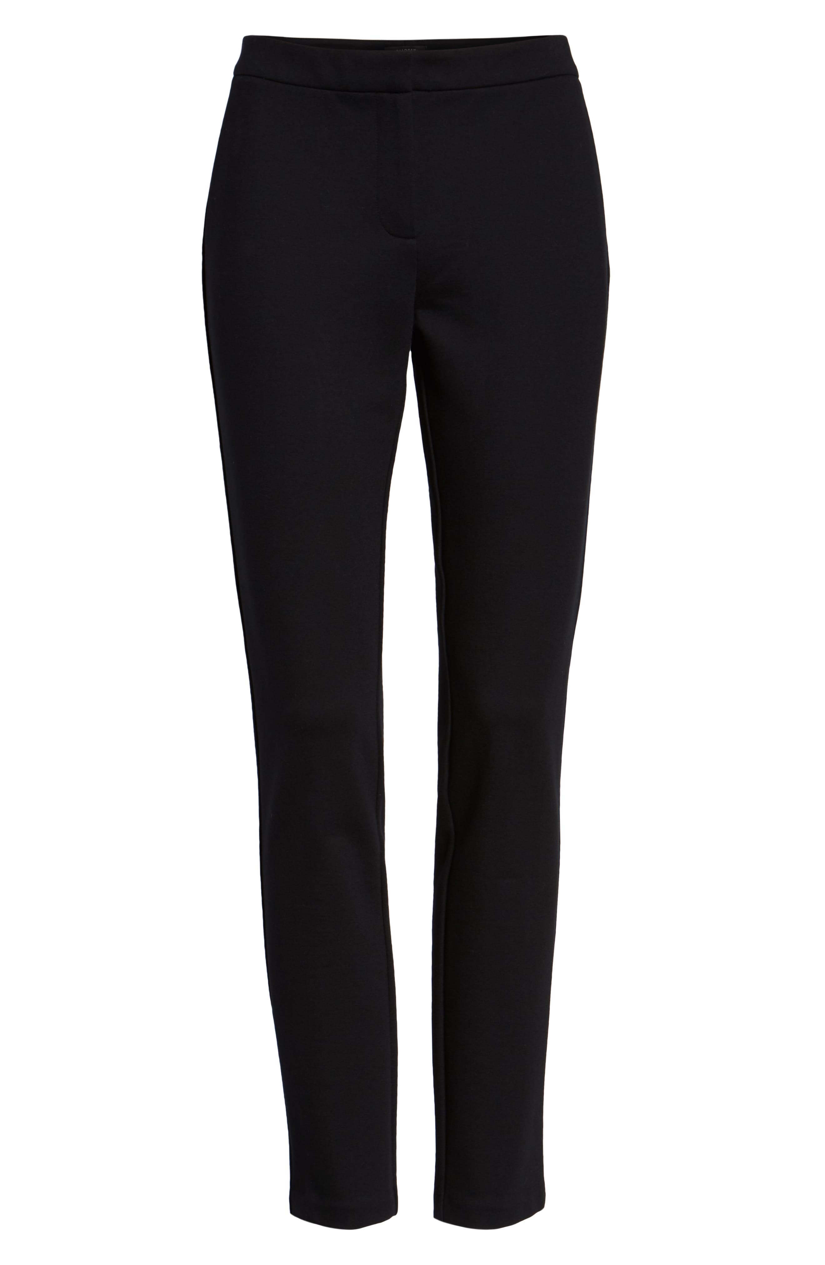 HALOGEN<SUP>®</SUP>,                             Ponte Skinny Pants,                             Alternate thumbnail 7, color,                             BLACK