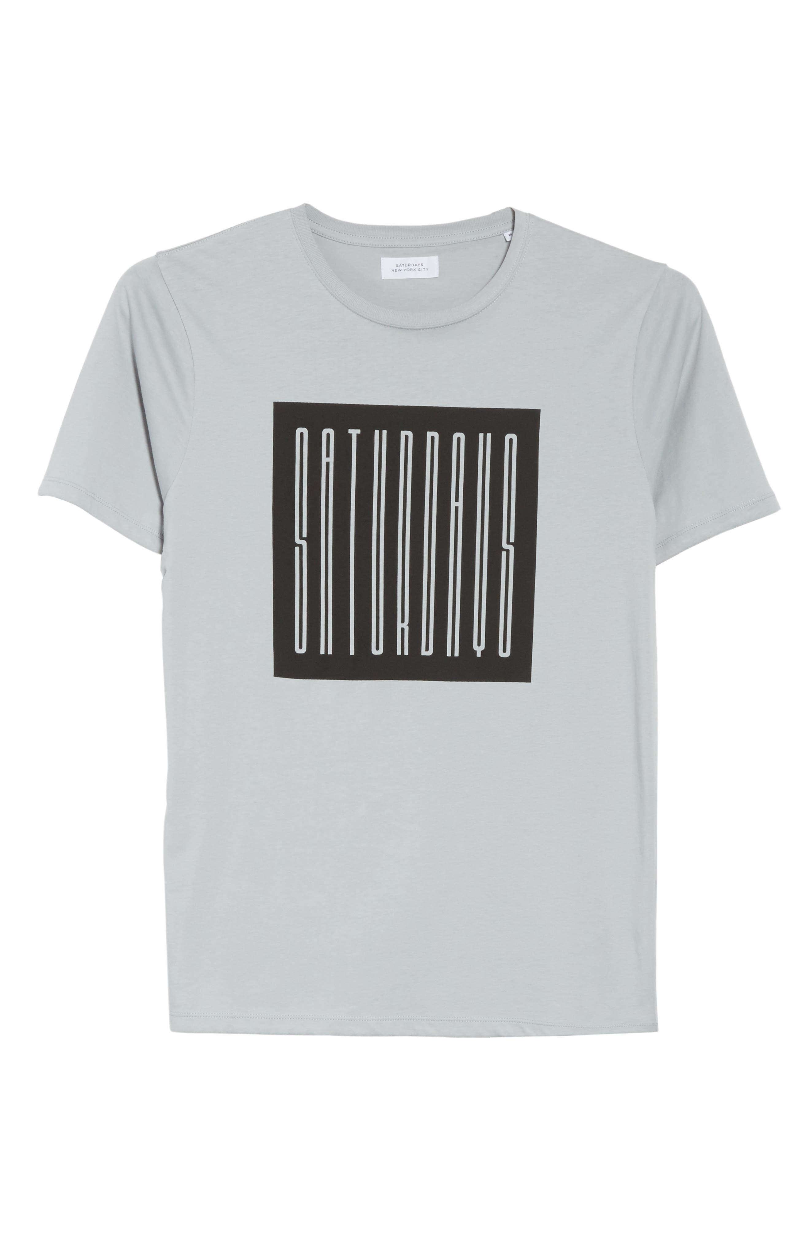 Super Condensed Logo T-Shirt,                             Alternate thumbnail 6, color,                             STONE BLUE