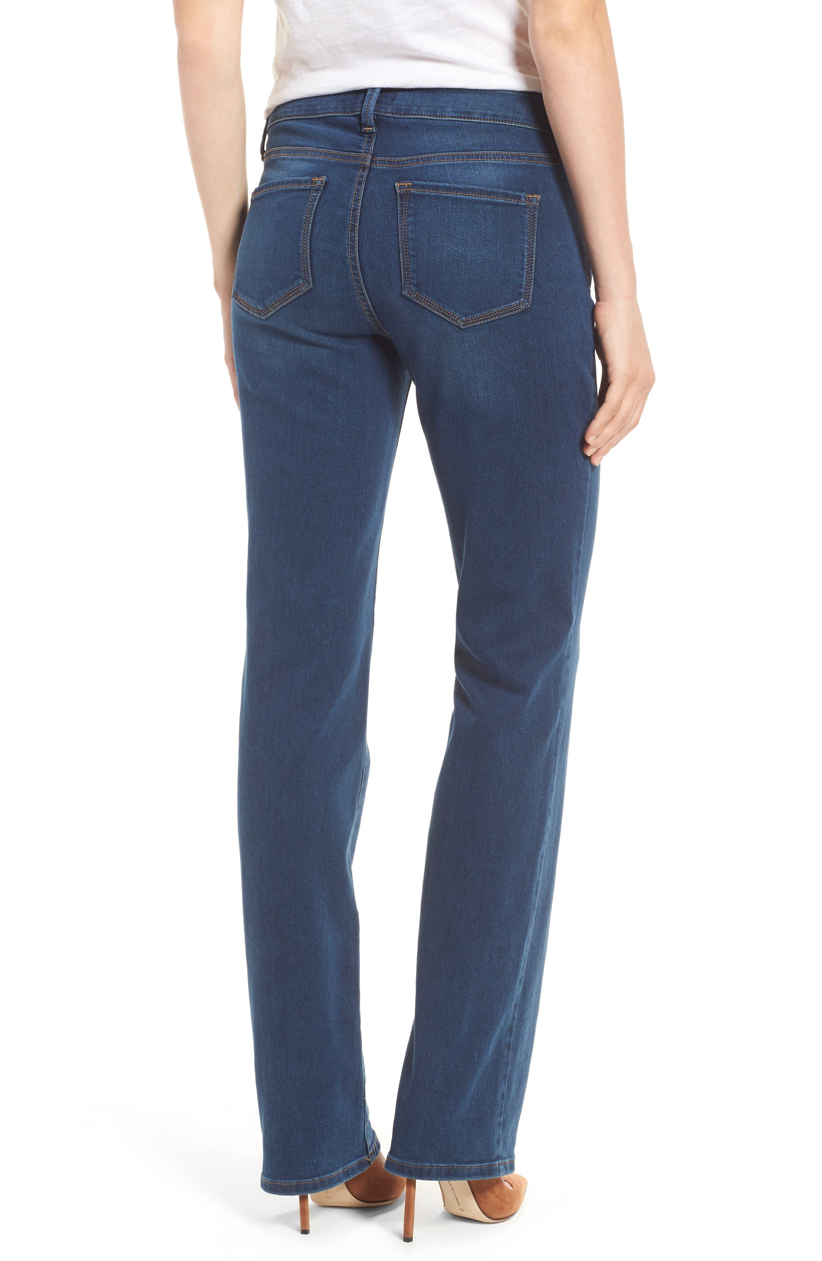 Marilyn Stretch Straight Leg Jeans,                             Alternate thumbnail 2, color,                             SEA BREEZE