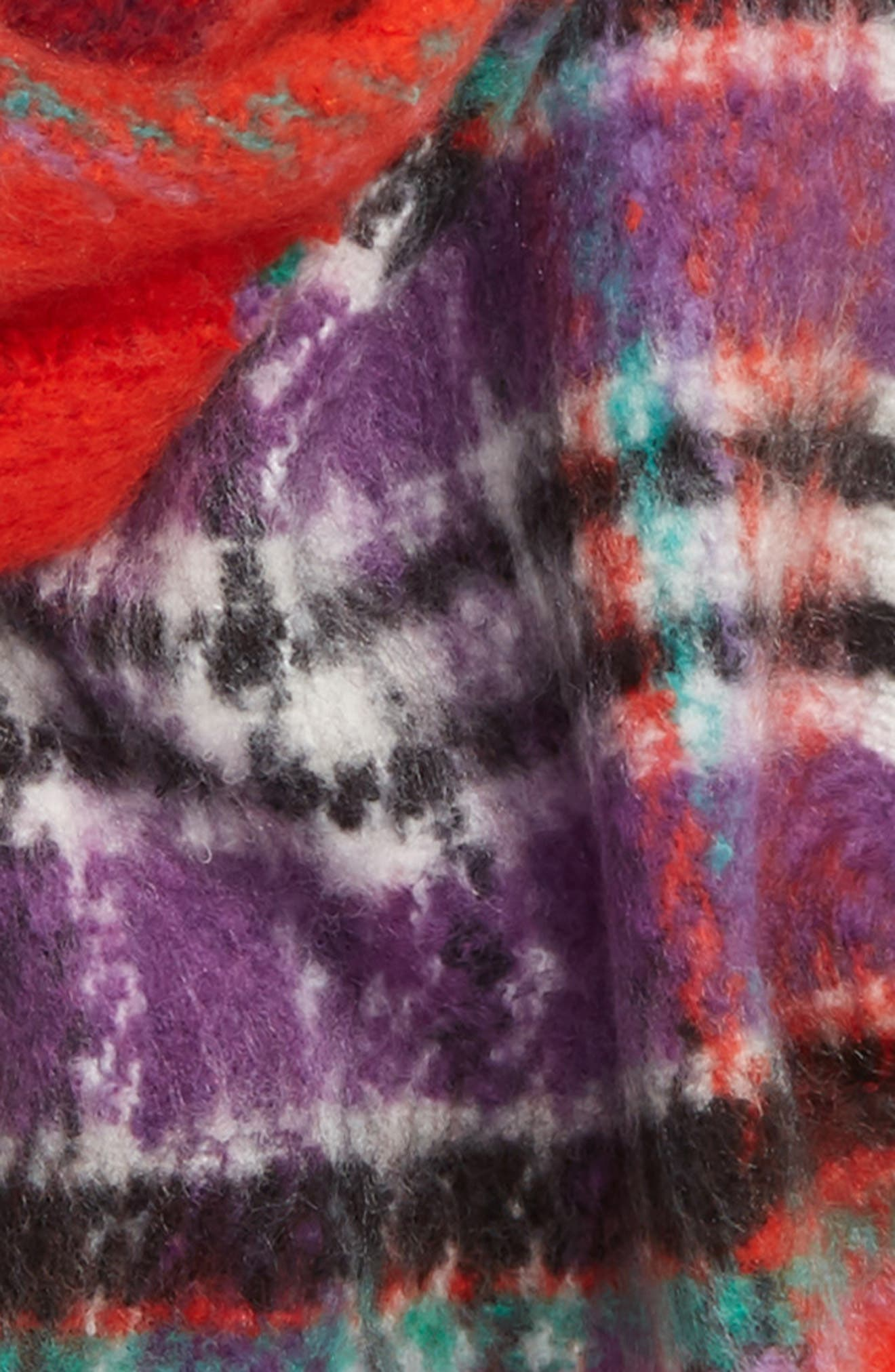 Heavy Check Scarf,                             Alternate thumbnail 4, color,                             RED MULTI