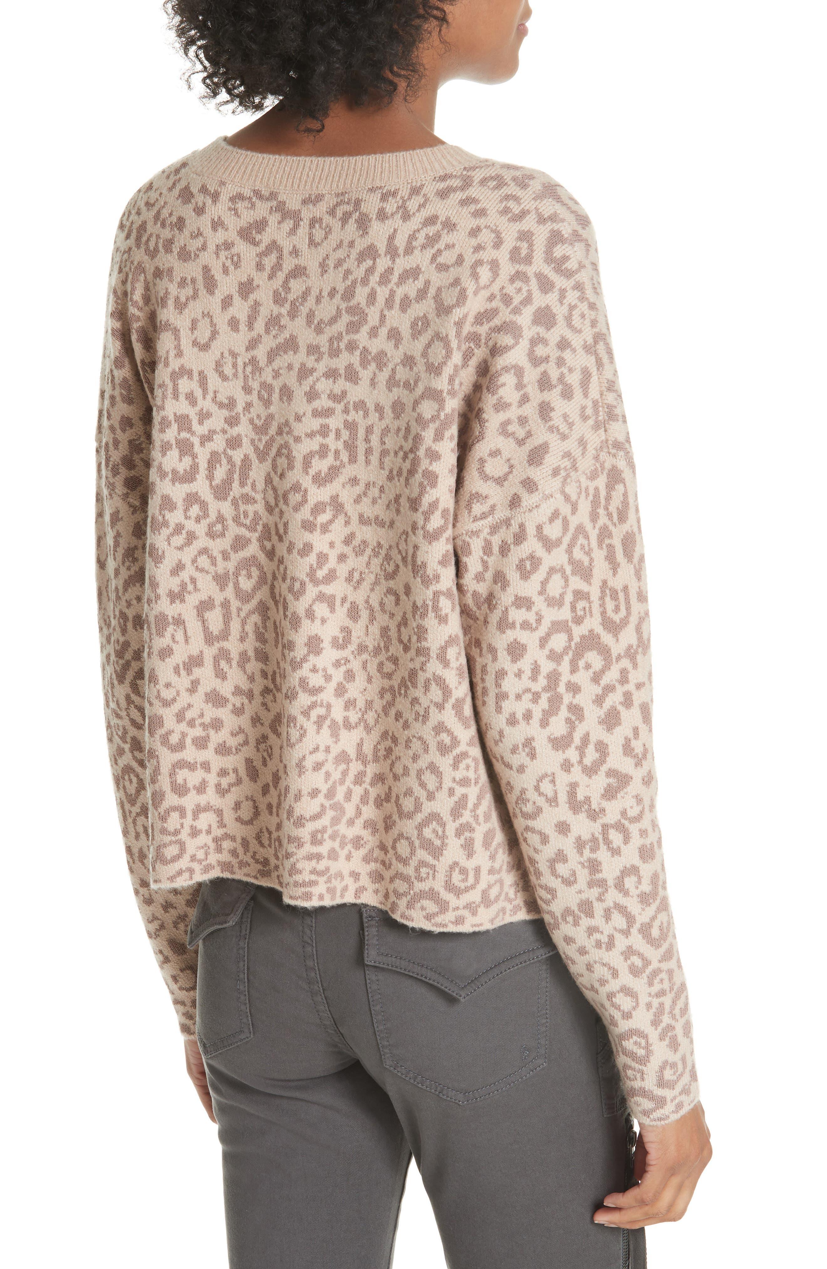Leopard Print Sweater,                             Alternate thumbnail 2, color,                             250