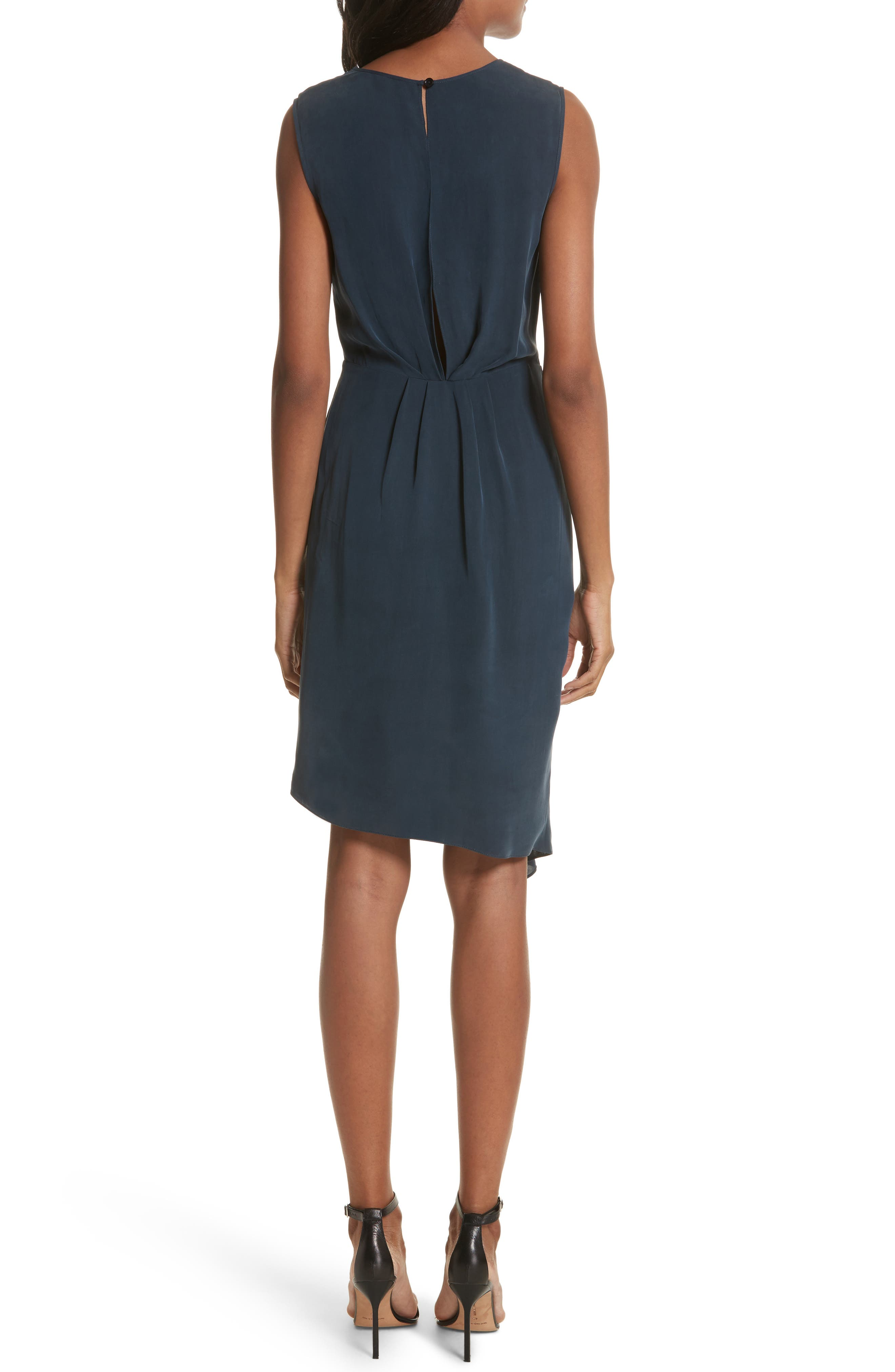 Rachael Front Drape Dress,                             Alternate thumbnail 2, color,                             410