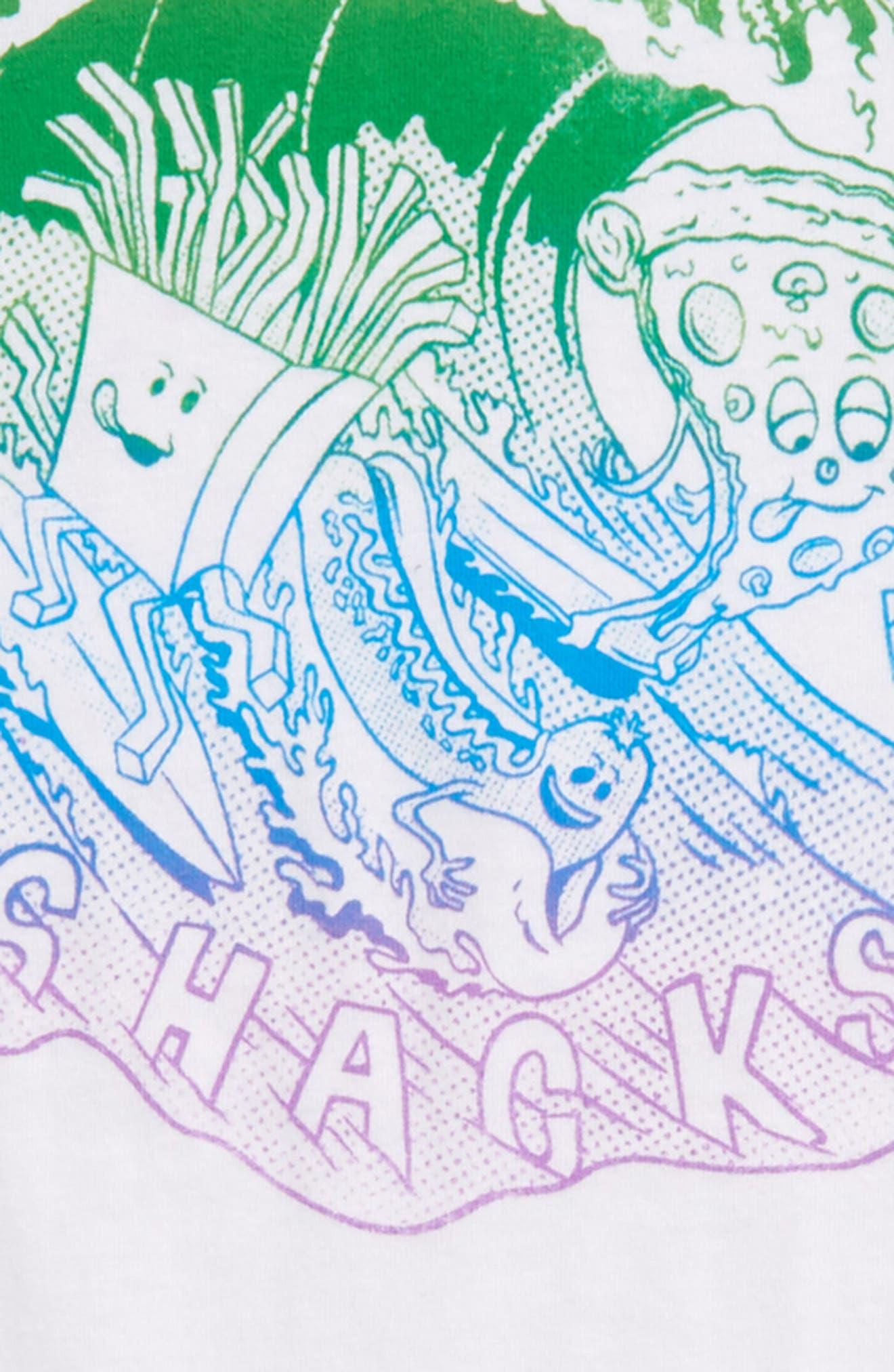 Snacks & Shacks Graphic T-Shirt,                             Alternate thumbnail 3, color,                             100