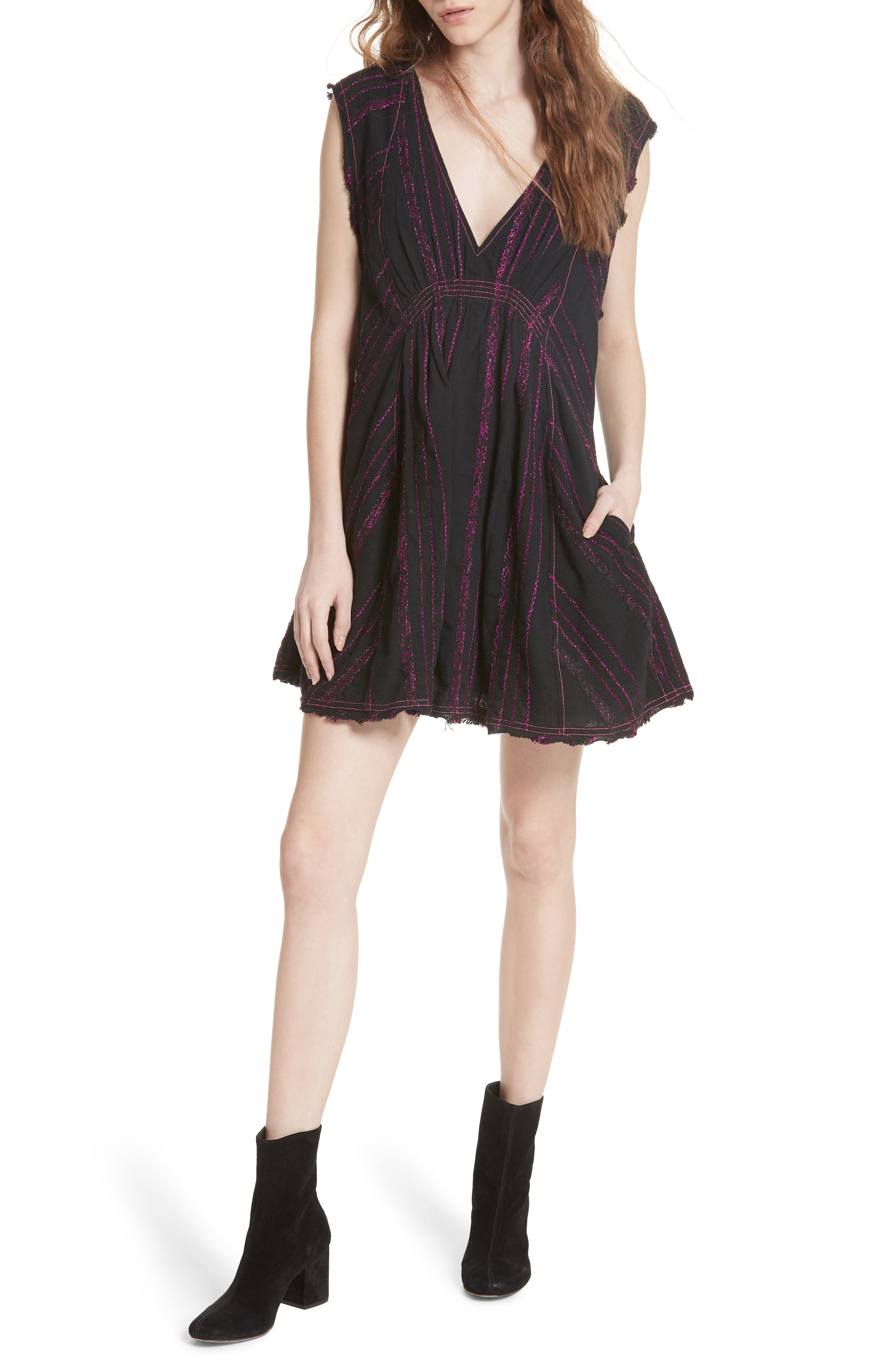 FREE PEOPLE Cactus Flowers Minidress, Main, color, 001