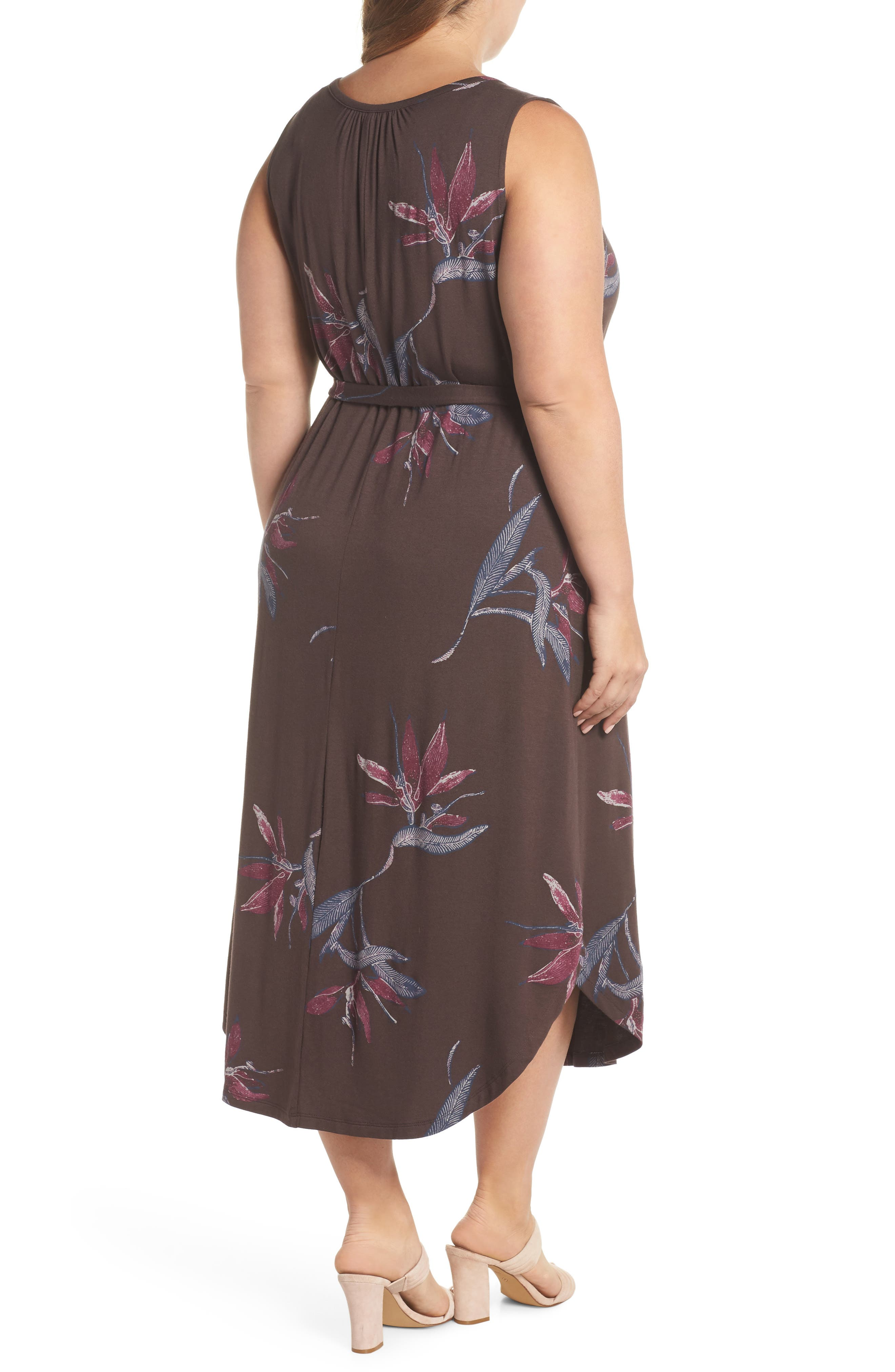 Floral Halter Dress,                             Alternate thumbnail 2, color,                             MULTI