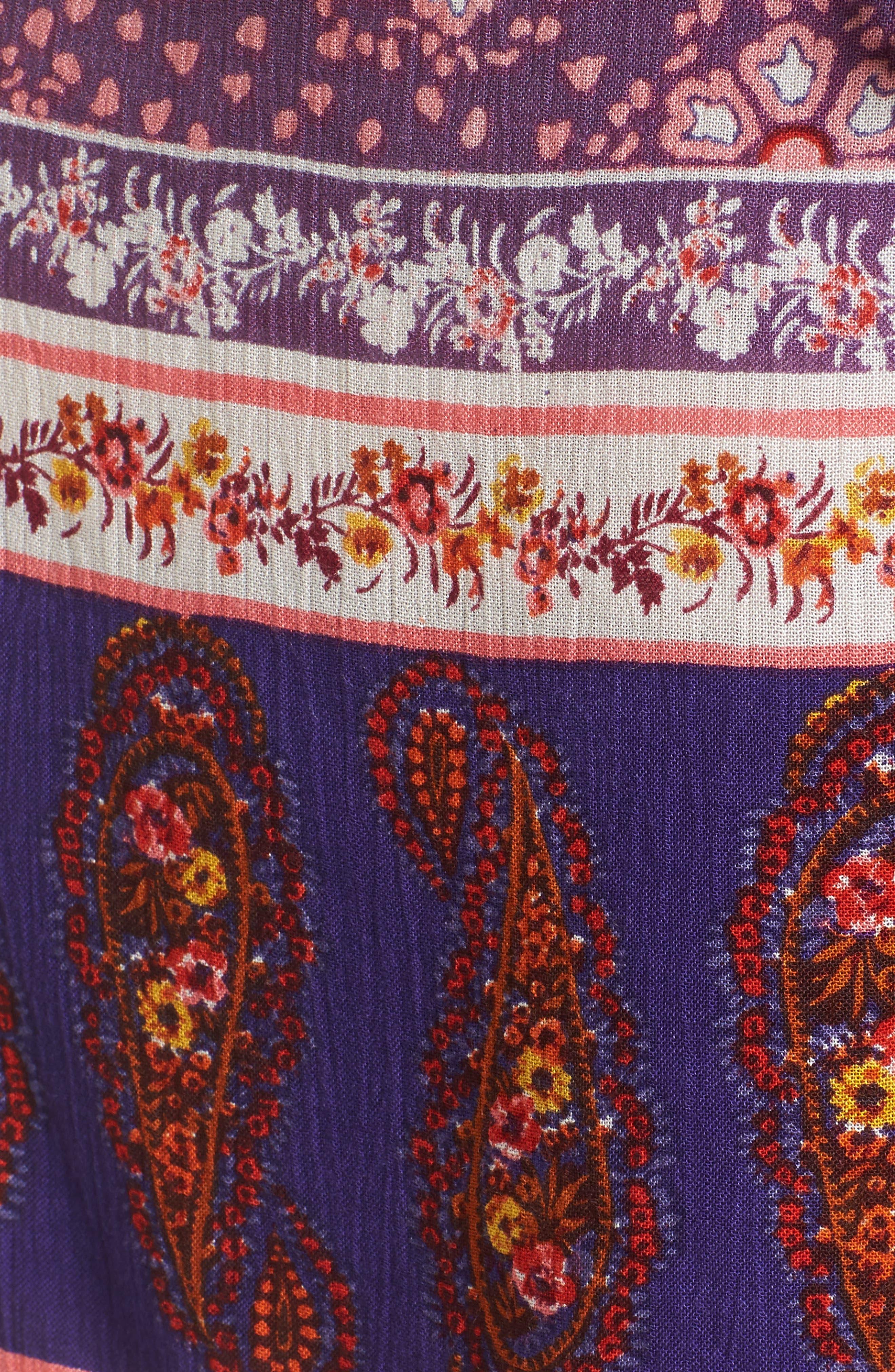 Dana Floral Wrap Skirt,                             Alternate thumbnail 5, color,                             500