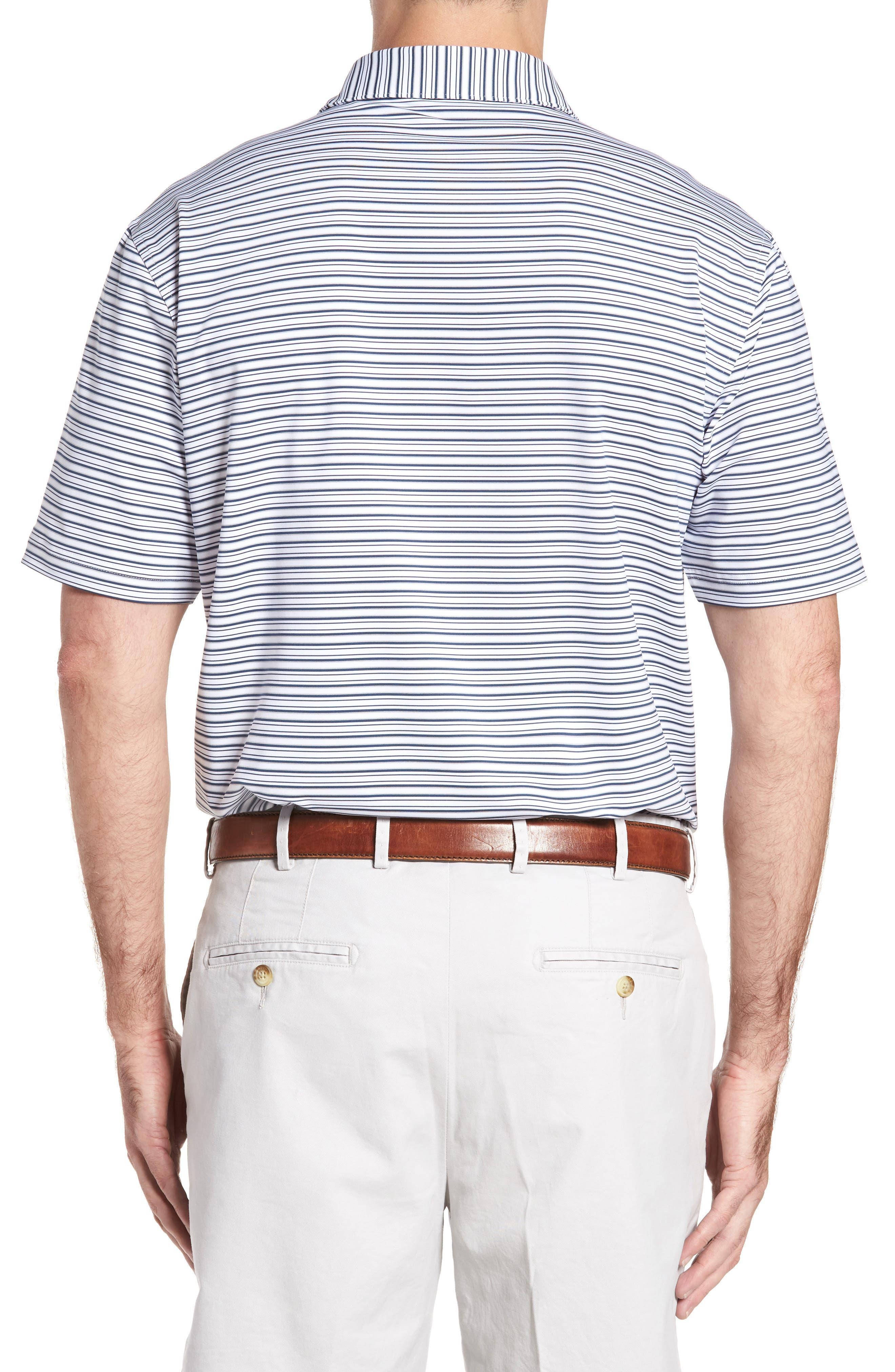 Barron Sean Stripe Jersey Polo,                             Alternate thumbnail 2, color,                             100