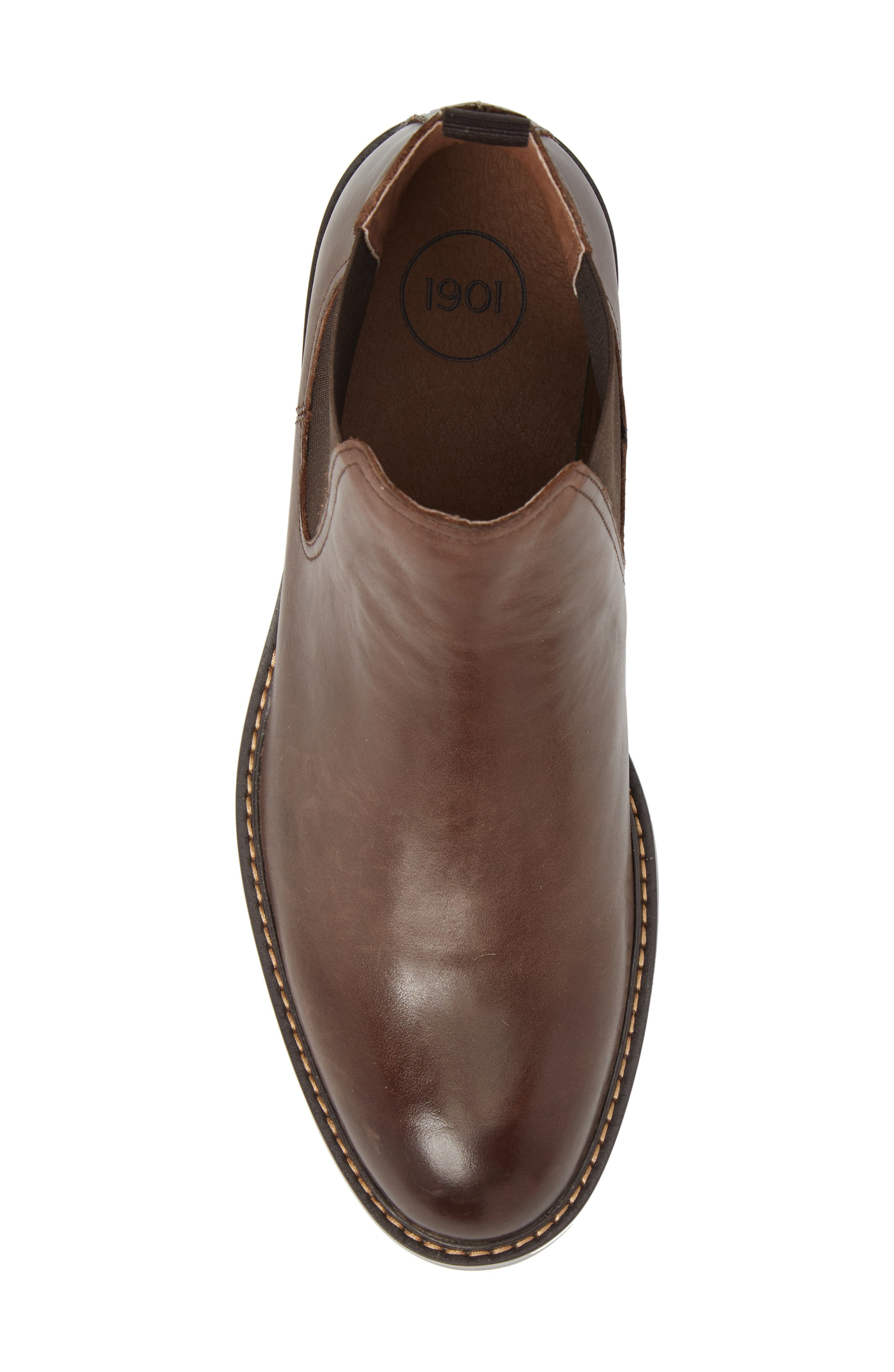Brooks Chelsea Boot,                             Alternate thumbnail 5, color,                             BROWN LEATHER