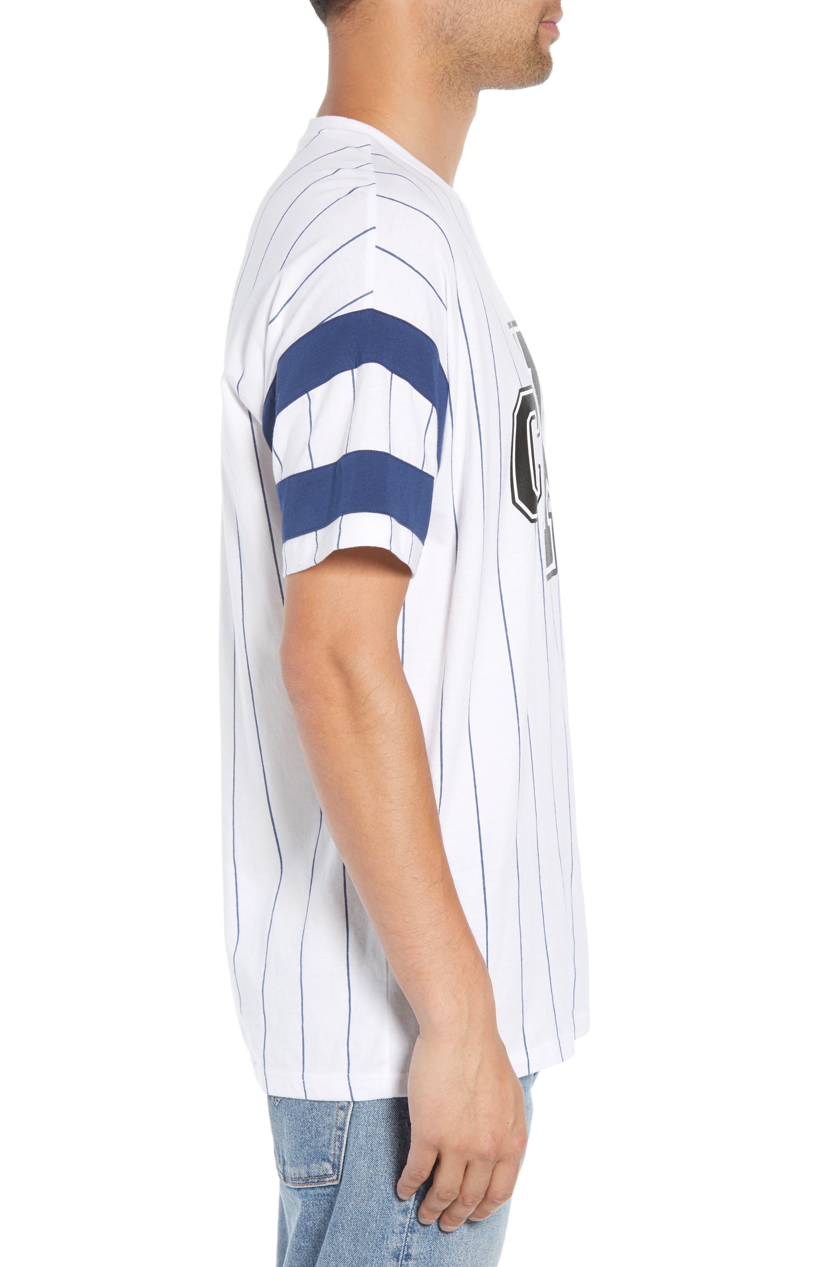 Logo Graphic Baseball T-Shirt,                             Alternate thumbnail 3, color,                             STANDARD WHITE