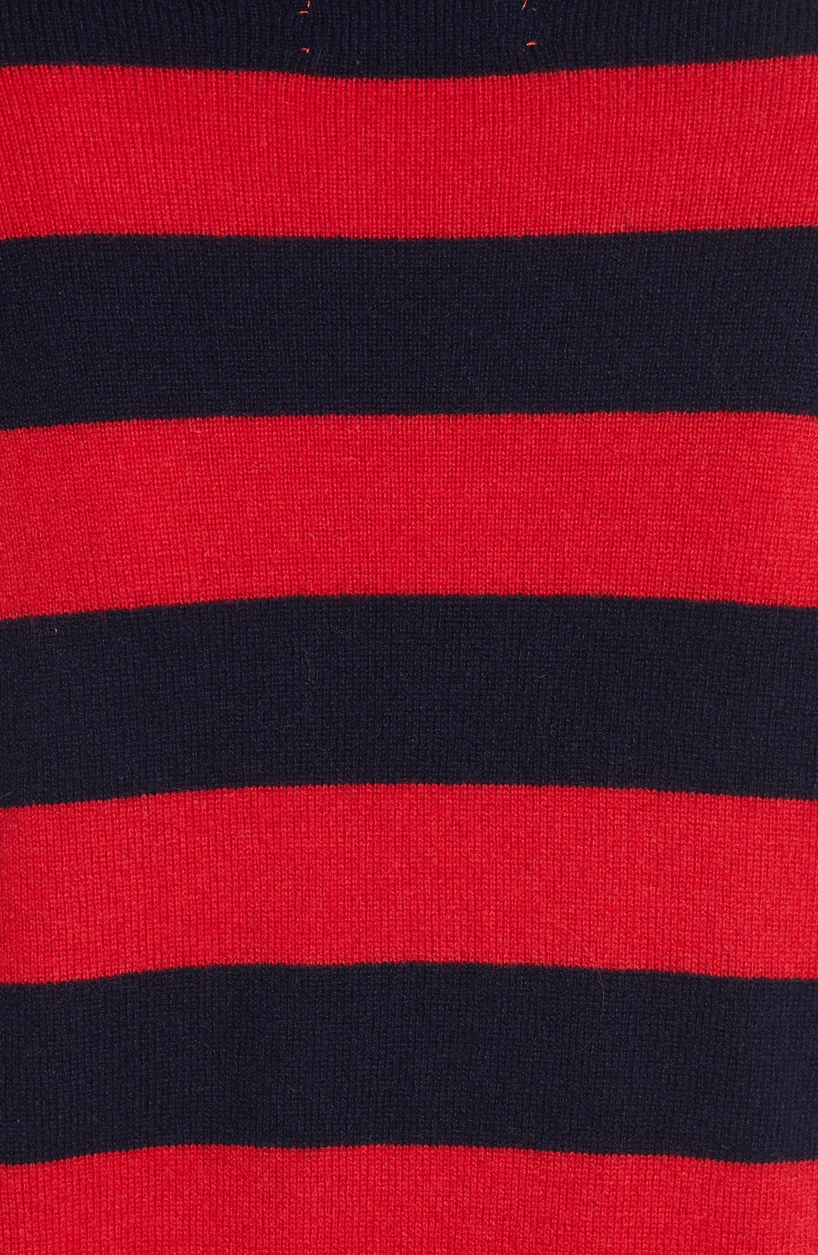 CHINTI & PARKER Navy Pop Stripe Cashmere Sweater,                             Alternate thumbnail 5, color,                             680