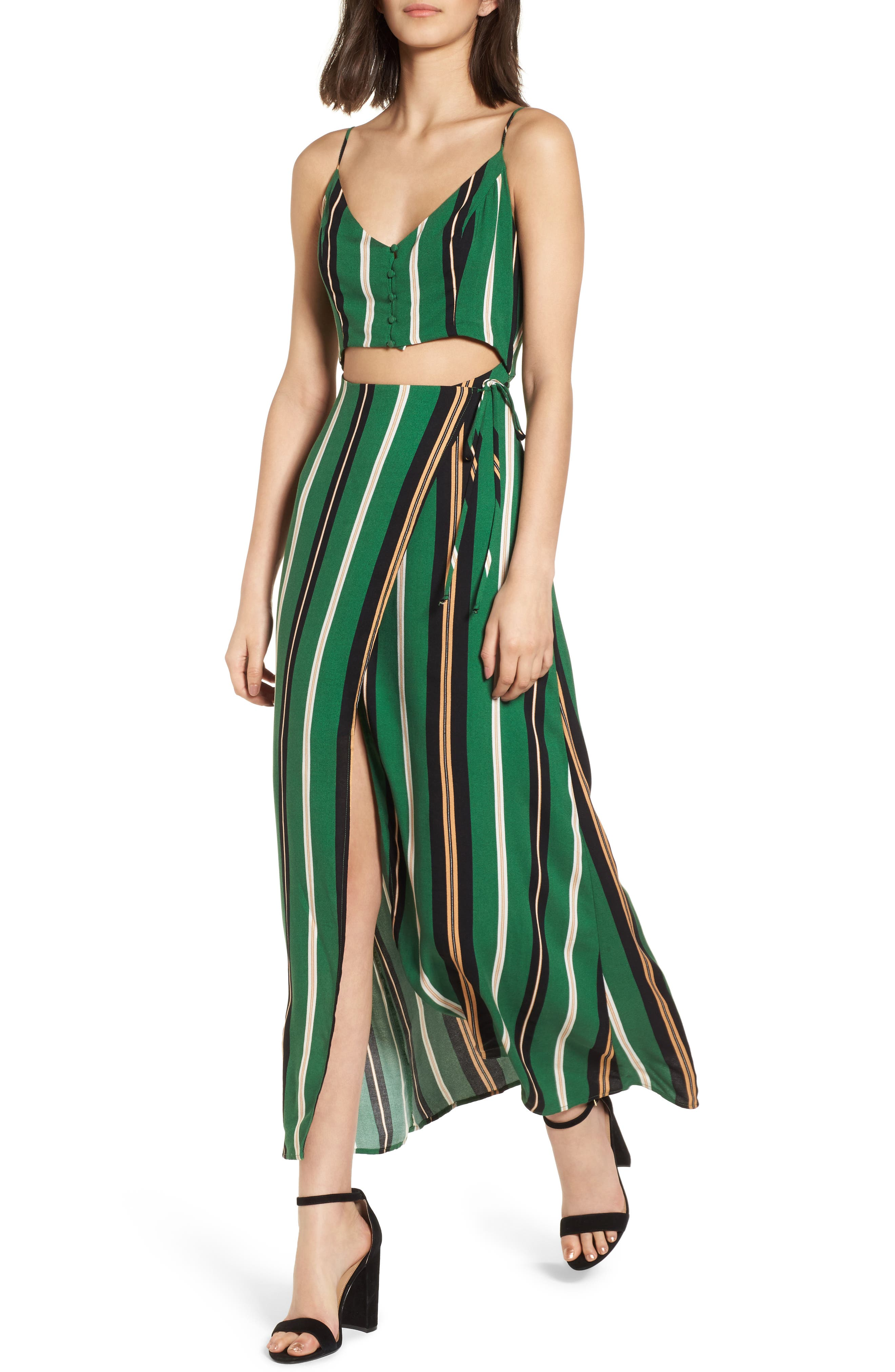 Cutout Wrap Front Maxi Dress,                         Main,                         color, 300